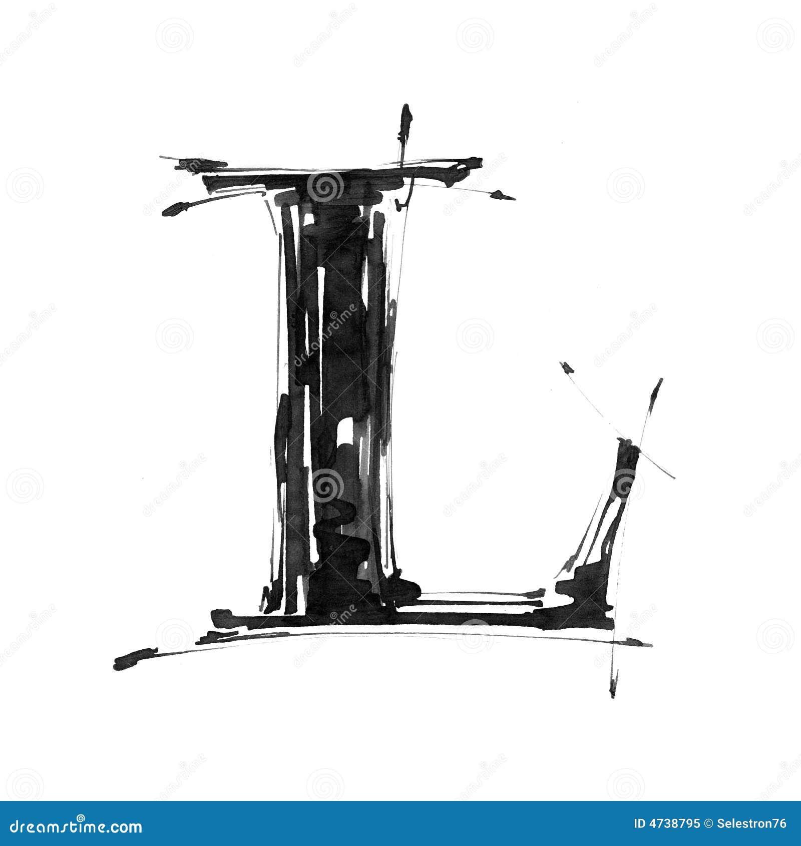 Símbolo del alfabeto - letra L