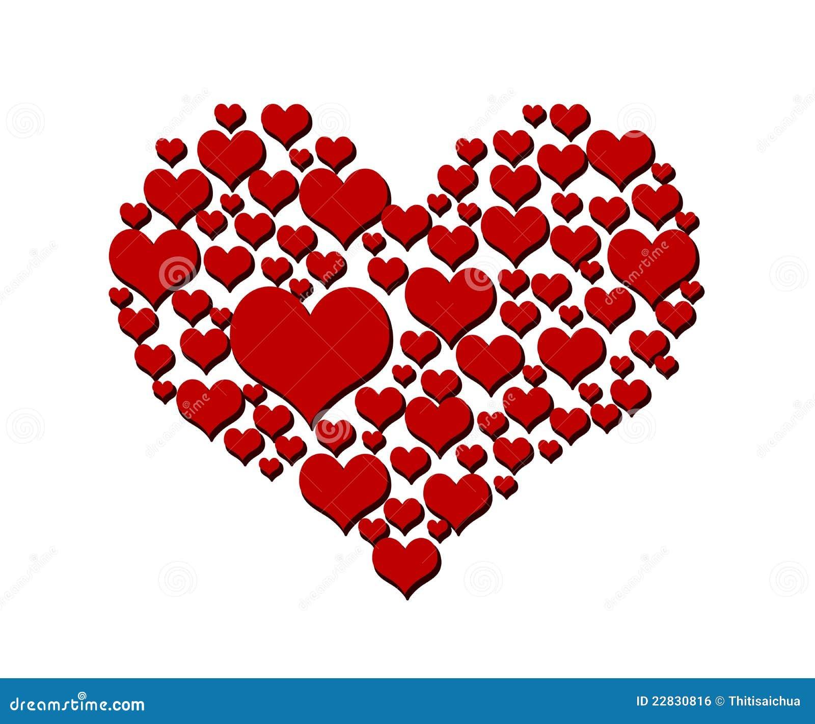 Símbolo Del Amor Del Corazón Aislado En Blanco Stock De