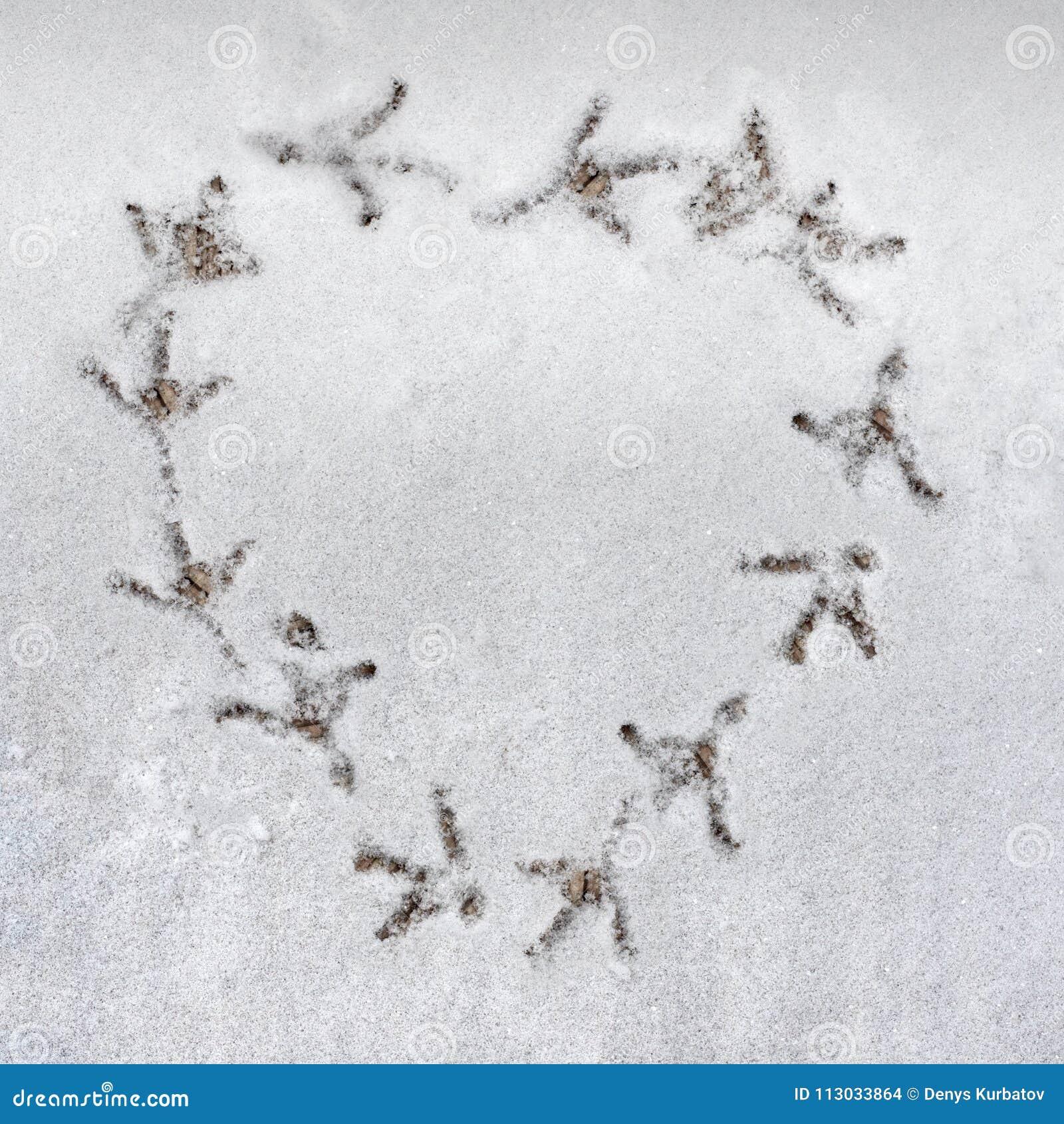 Símbolo del amor en nieve