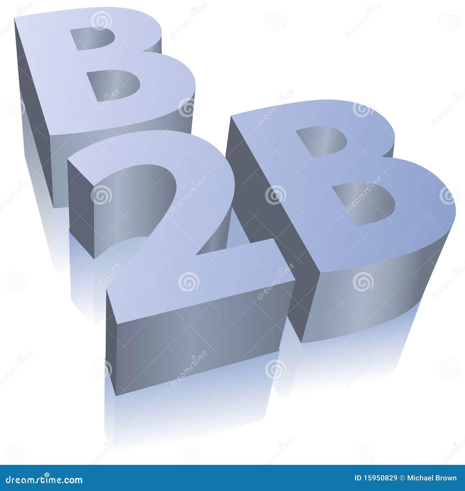 Símbolo del asunto del comercio electrónico de B2B