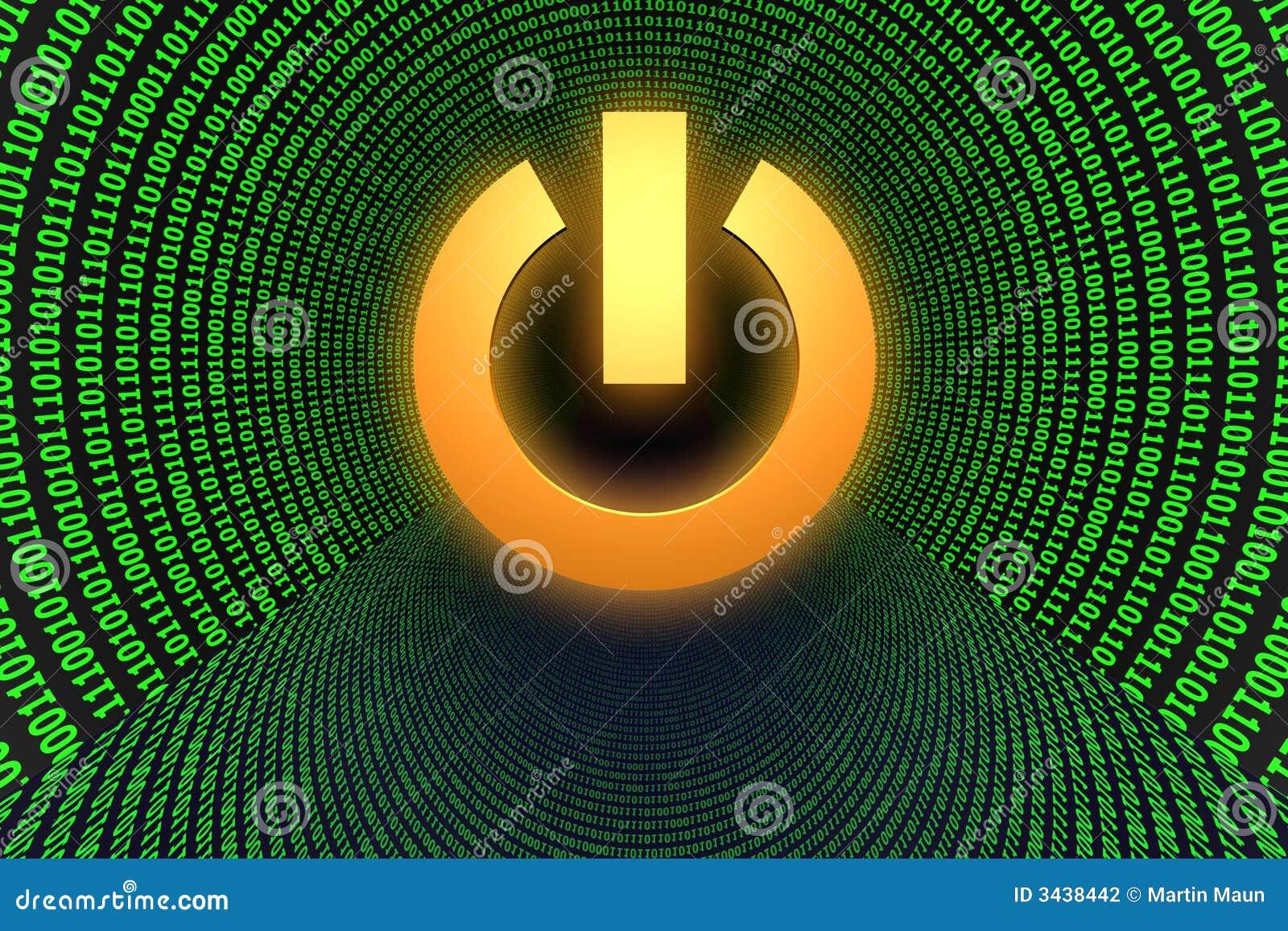 Símbolo del botón de la potencia
