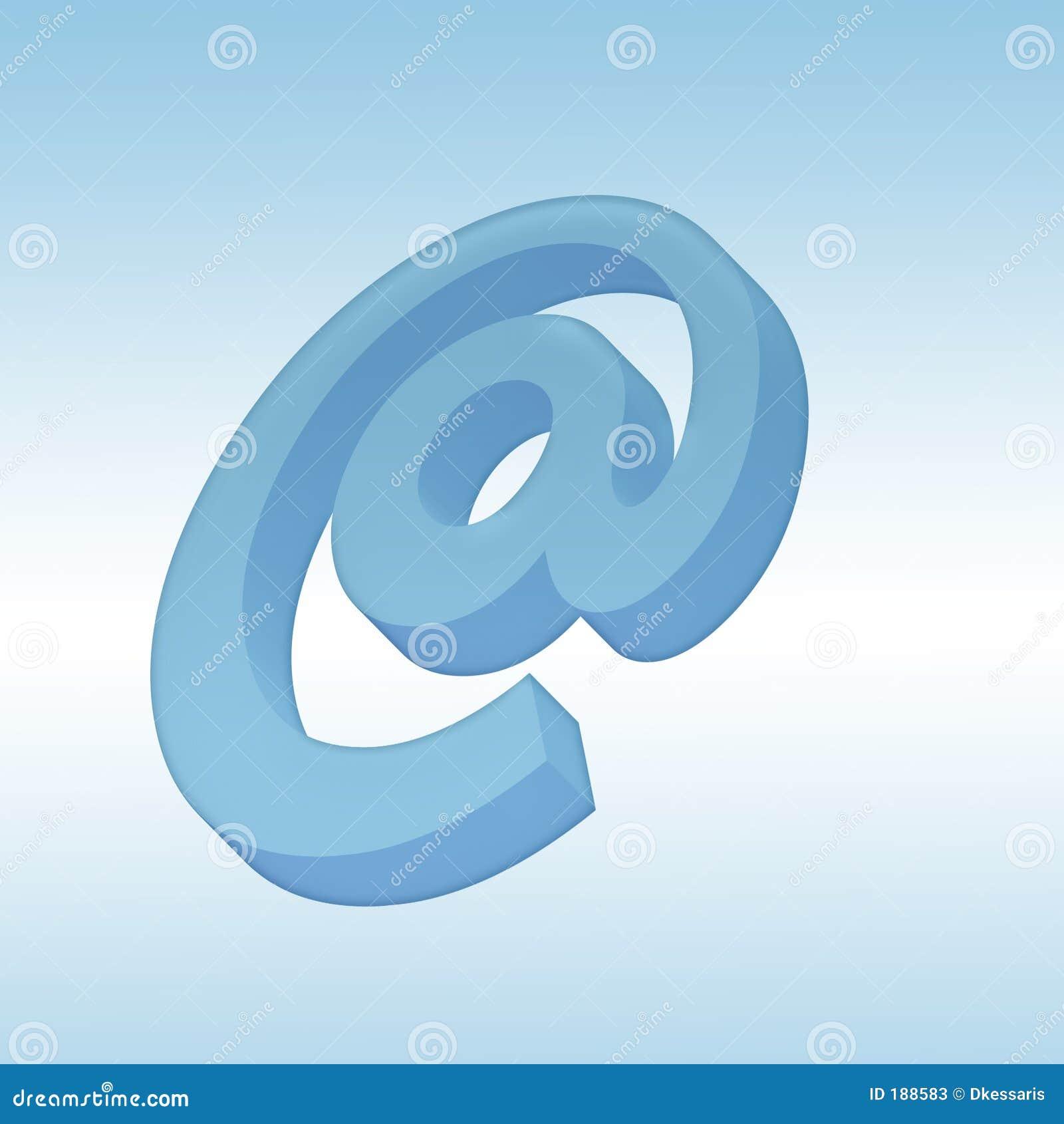 Símbolo del correo 3d