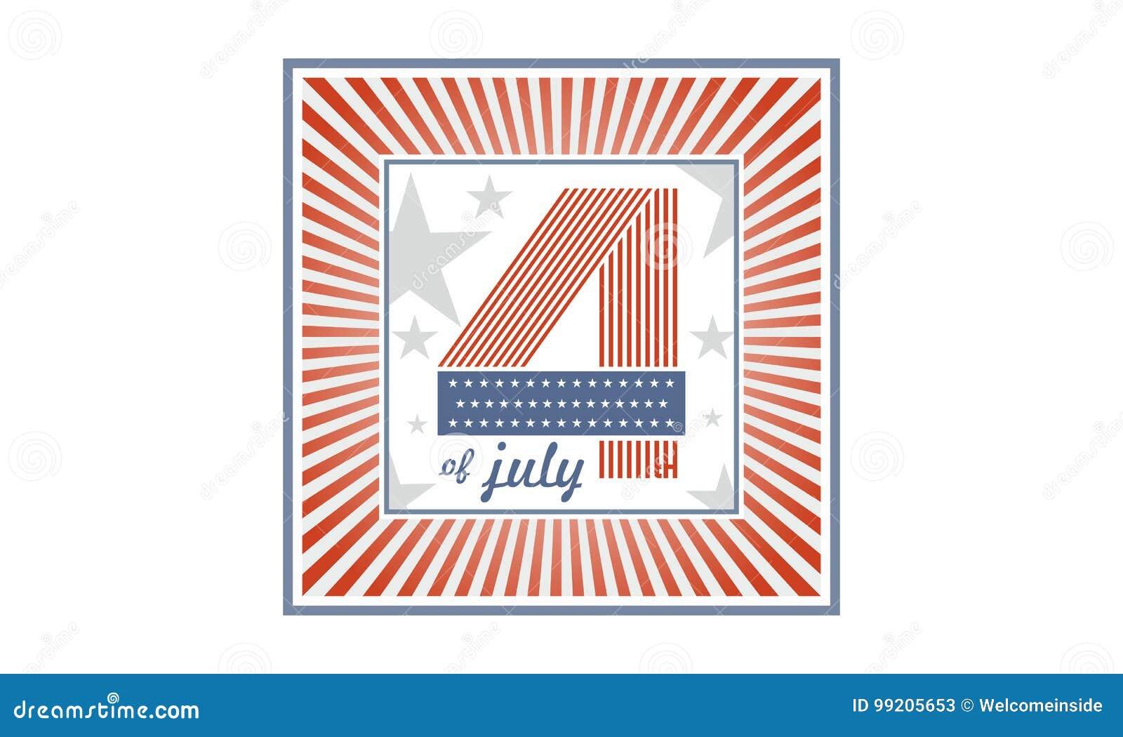 S mbolo del d a de la independencia los estados unidos de for Cuarto kit del america