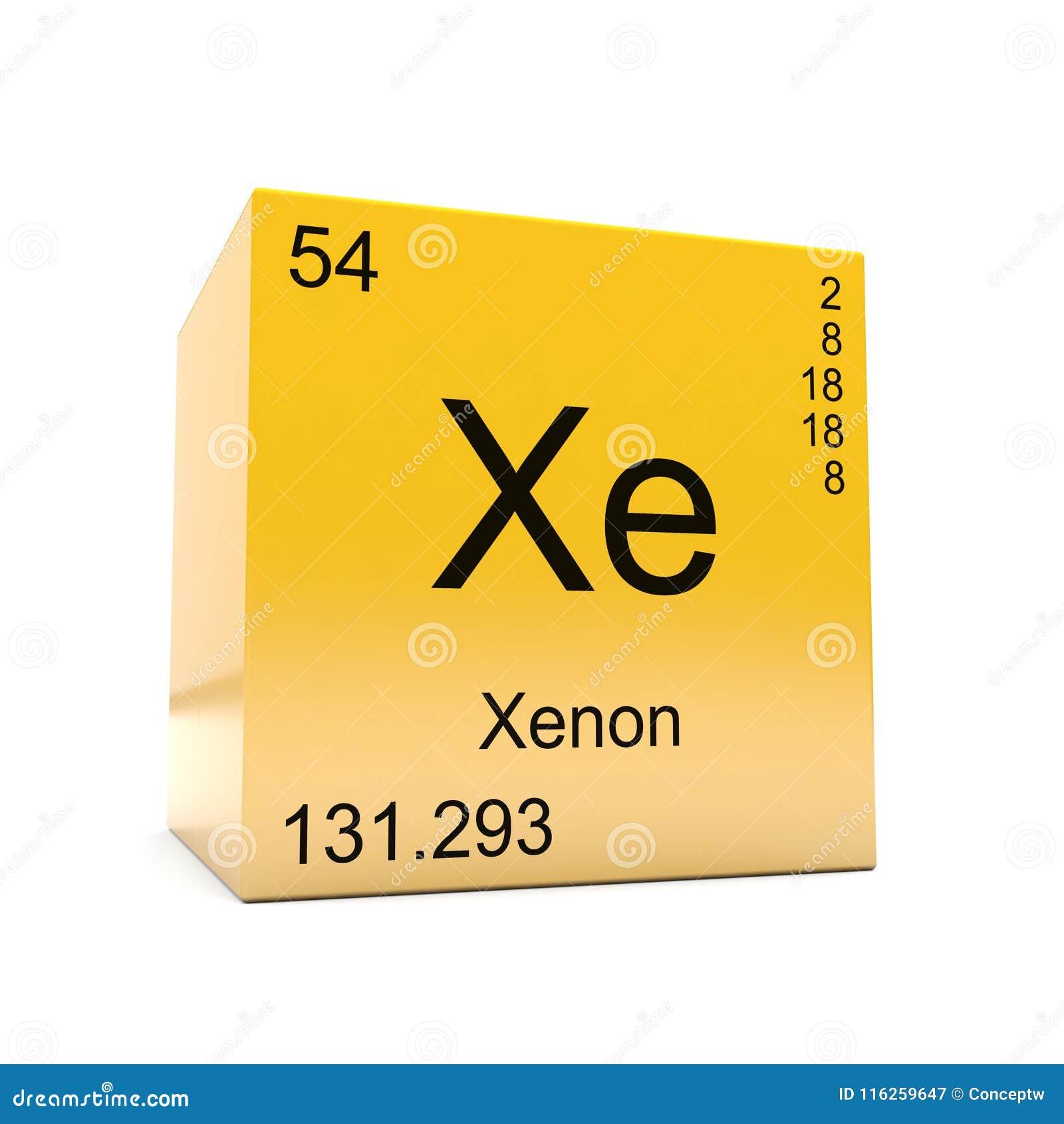 smbolo del elemento qumico del xenn de la tabla peridica