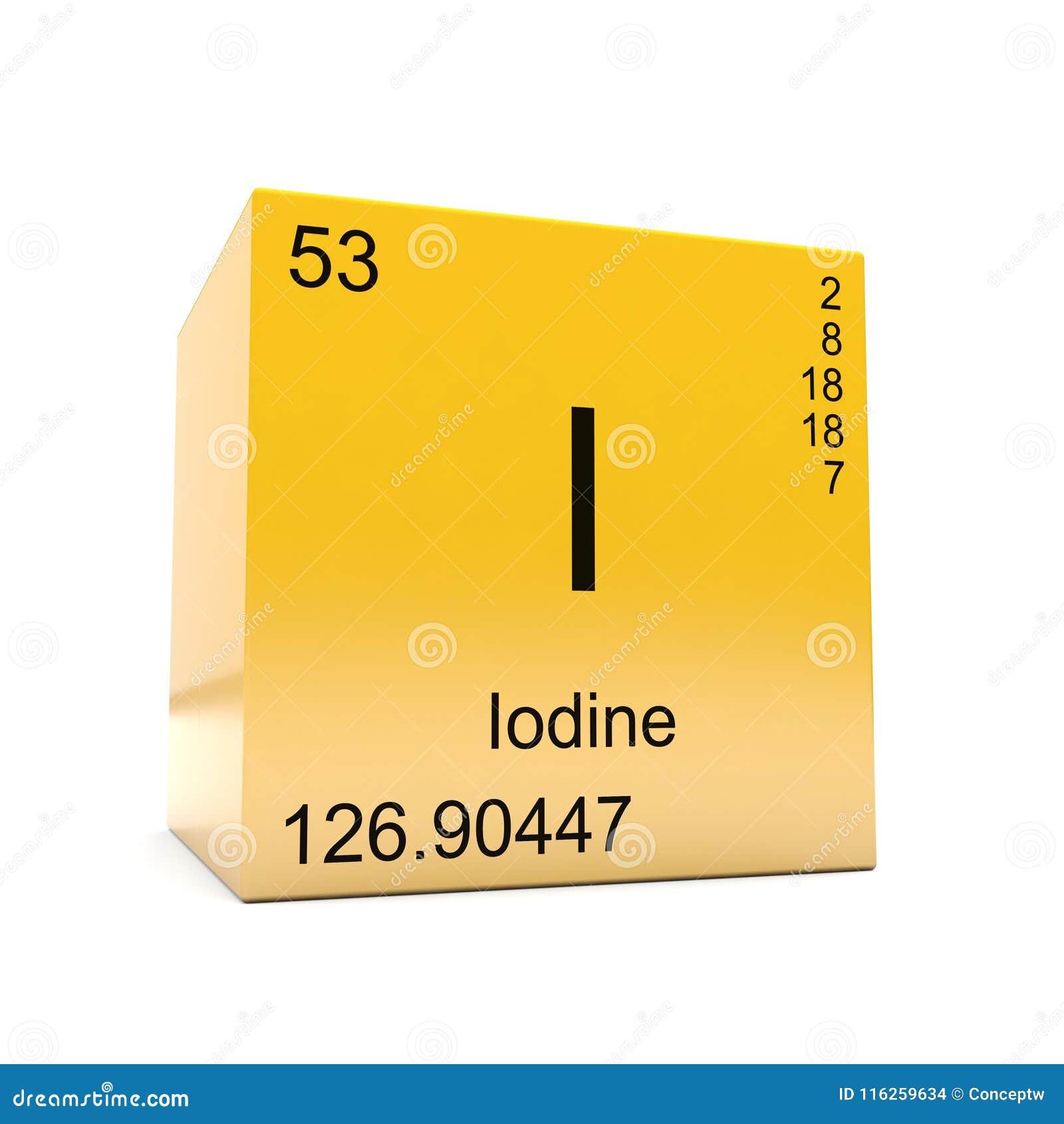 Smbolo del elemento qumico del yodo de la tabla peridica stock de download comp urtaz Image collections