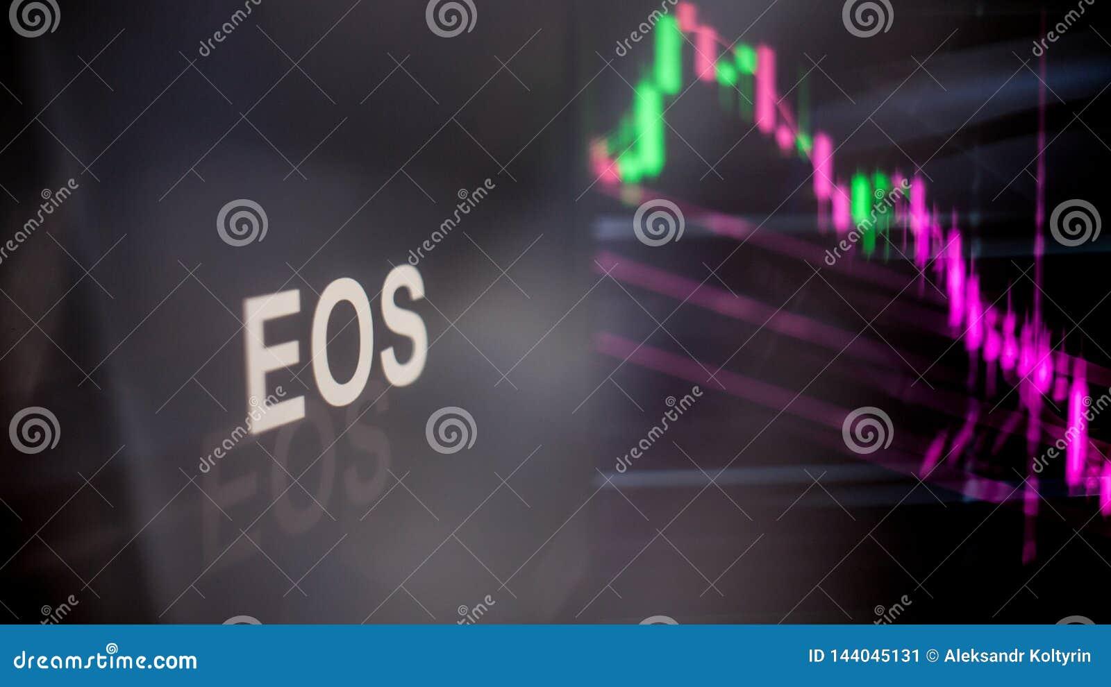 Símbolo del FOE Cryptocurrency El comportamiento de los intercambios del cryptocurrency, concepto Tecnologías financieras moderna