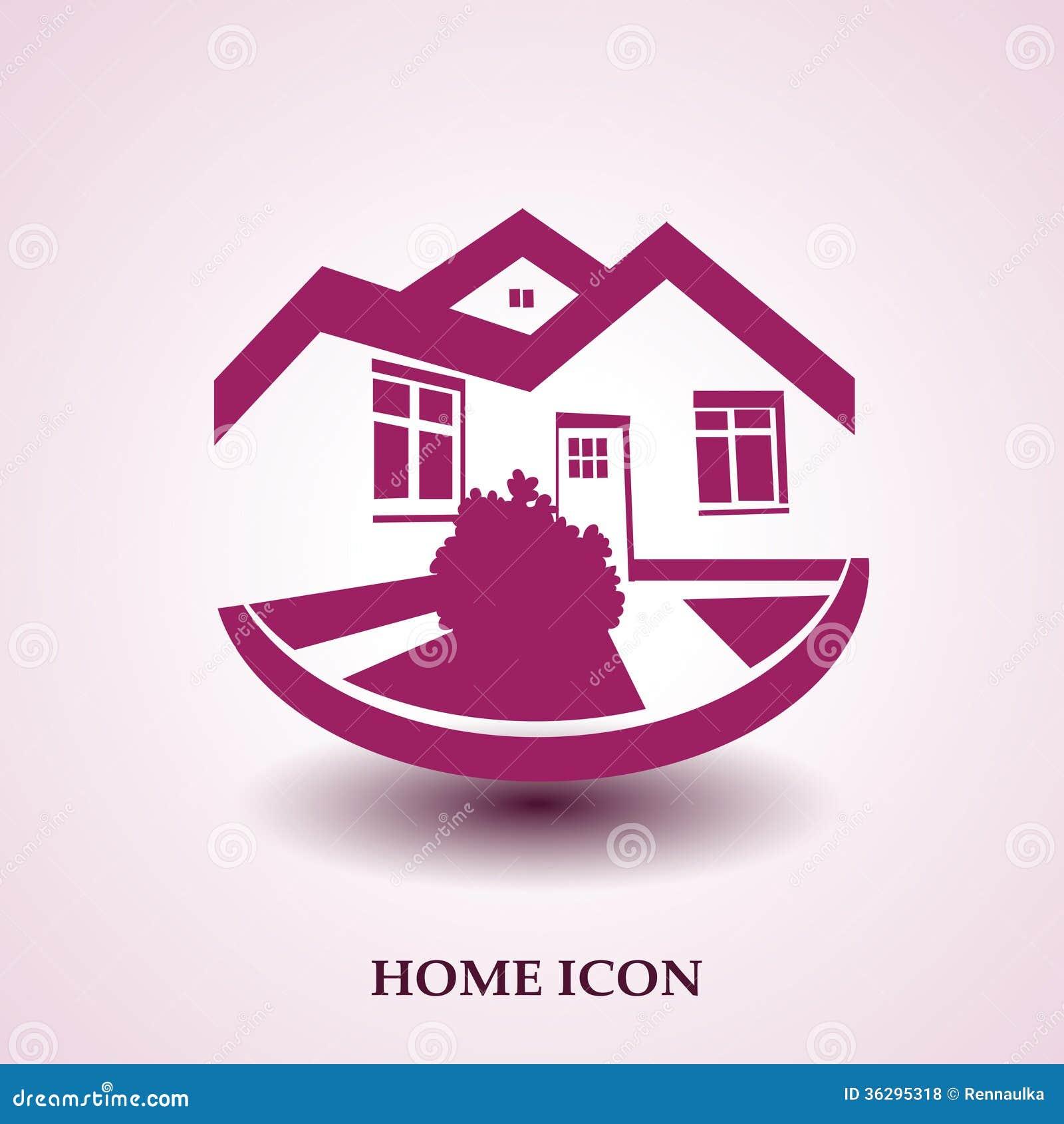 S mbolo del hogar icono de la casa silueta de los bienes - La casa del hogar ...