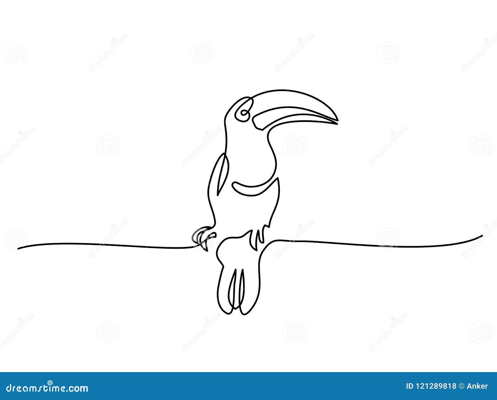 Símbolo del pájaro de Tukan