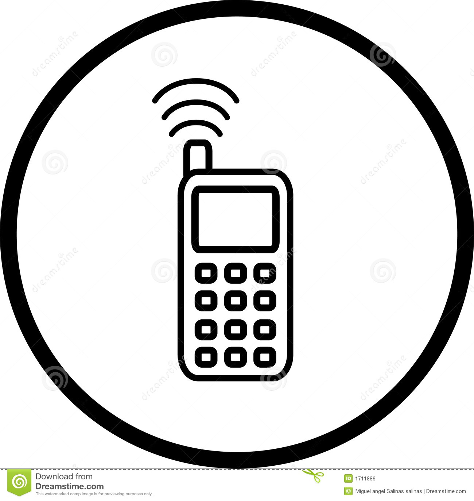 s u00edmbolo del tel u00e9fono celular ilustraci u00f3n del vector