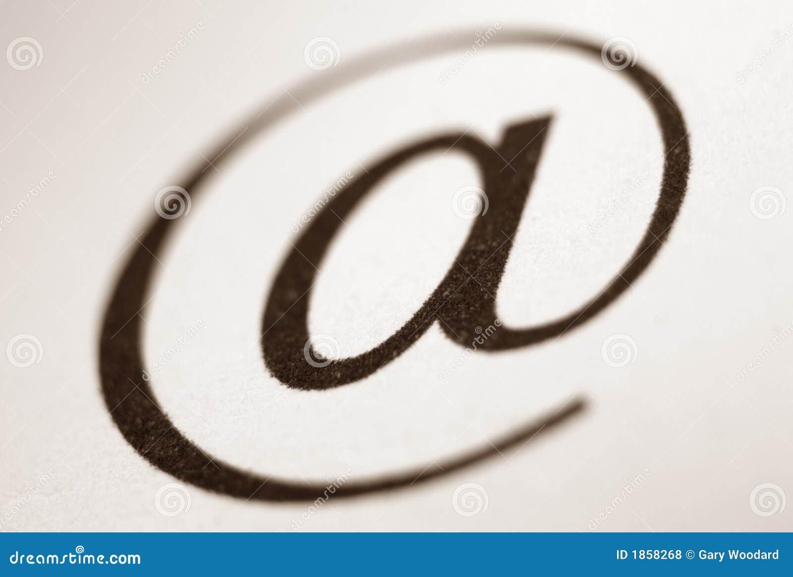 Símbolo do email.