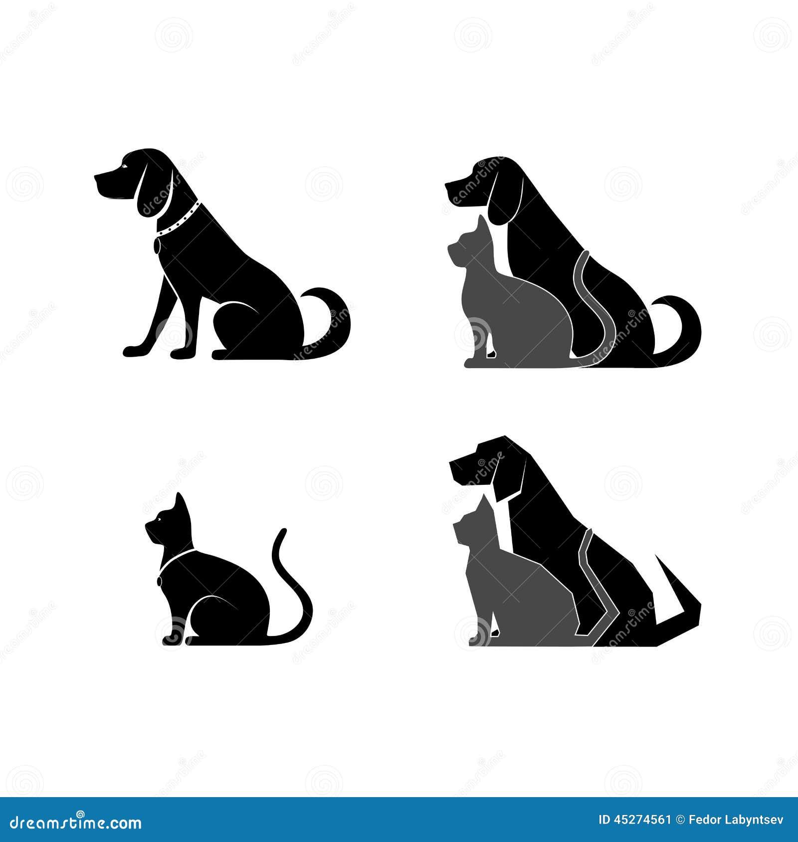 Favoritos Símbolo Do Gato E Do Cão Da Medicina Veterinária Ilustração do  BW34