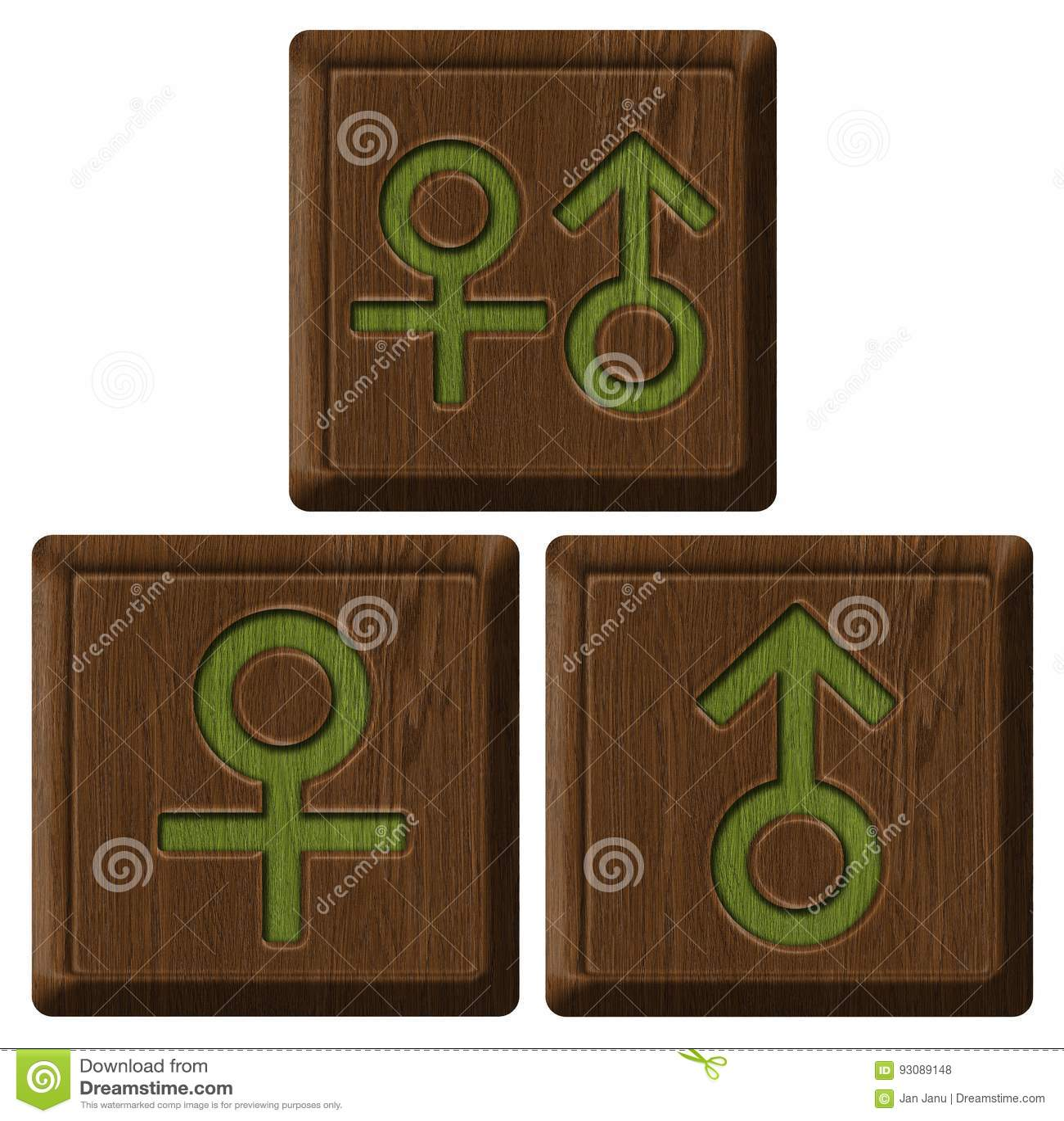 Símbolo do homem e da mulher