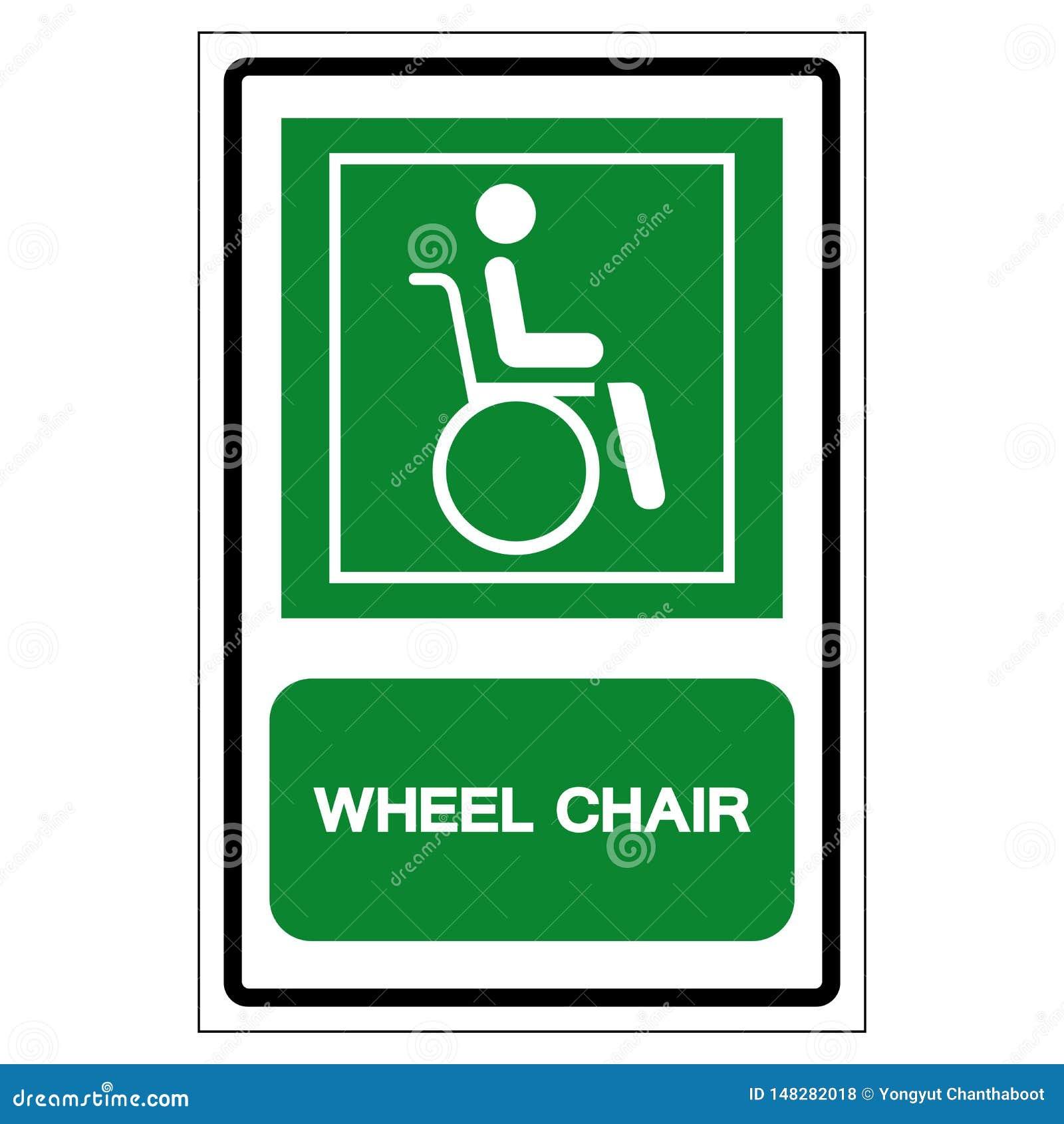 Símbolo do hospital da cadeira de roda, ilustração do vetor, isolado no ícone branco do fundo EPS10