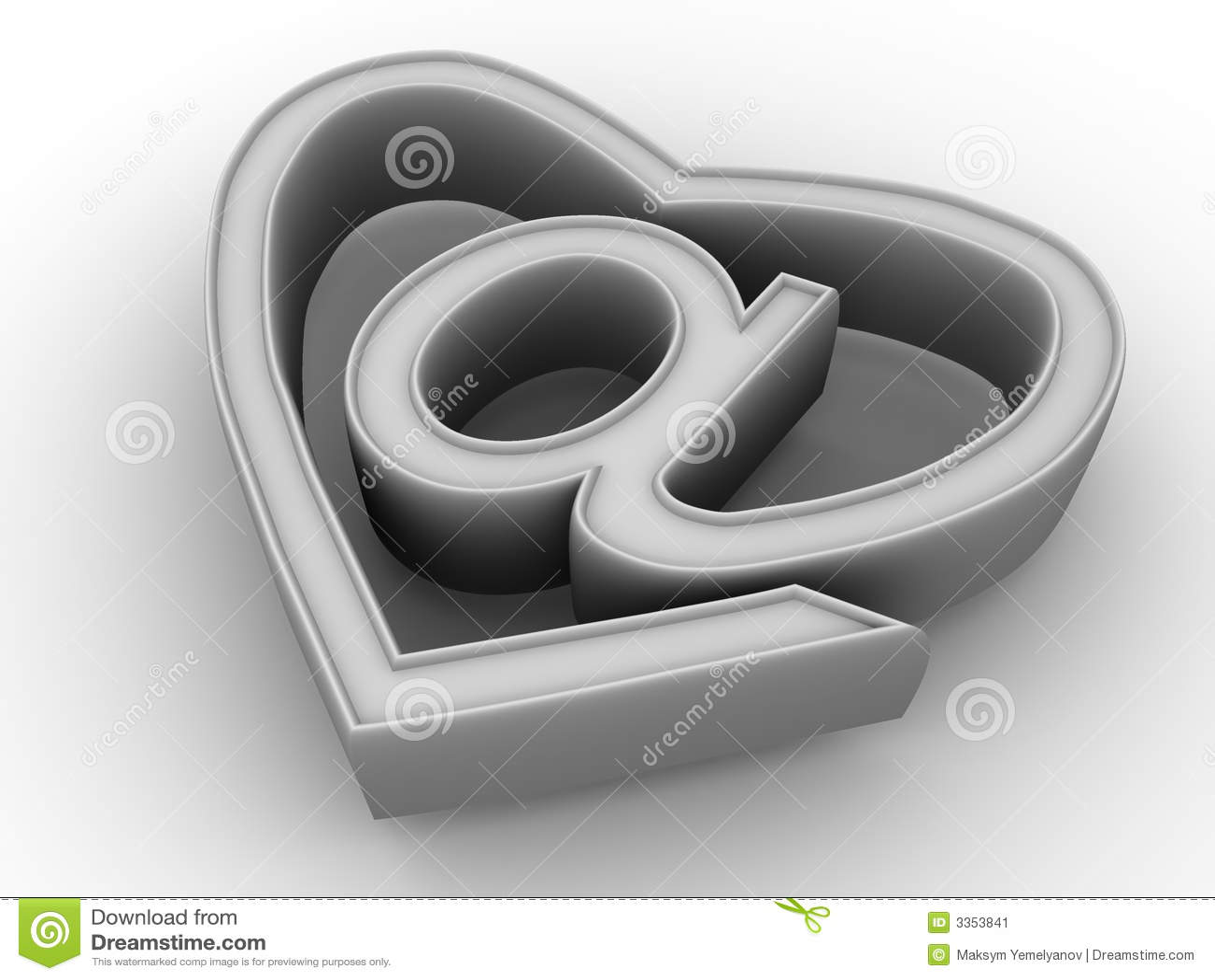 Símbolo do Internet como o coração
