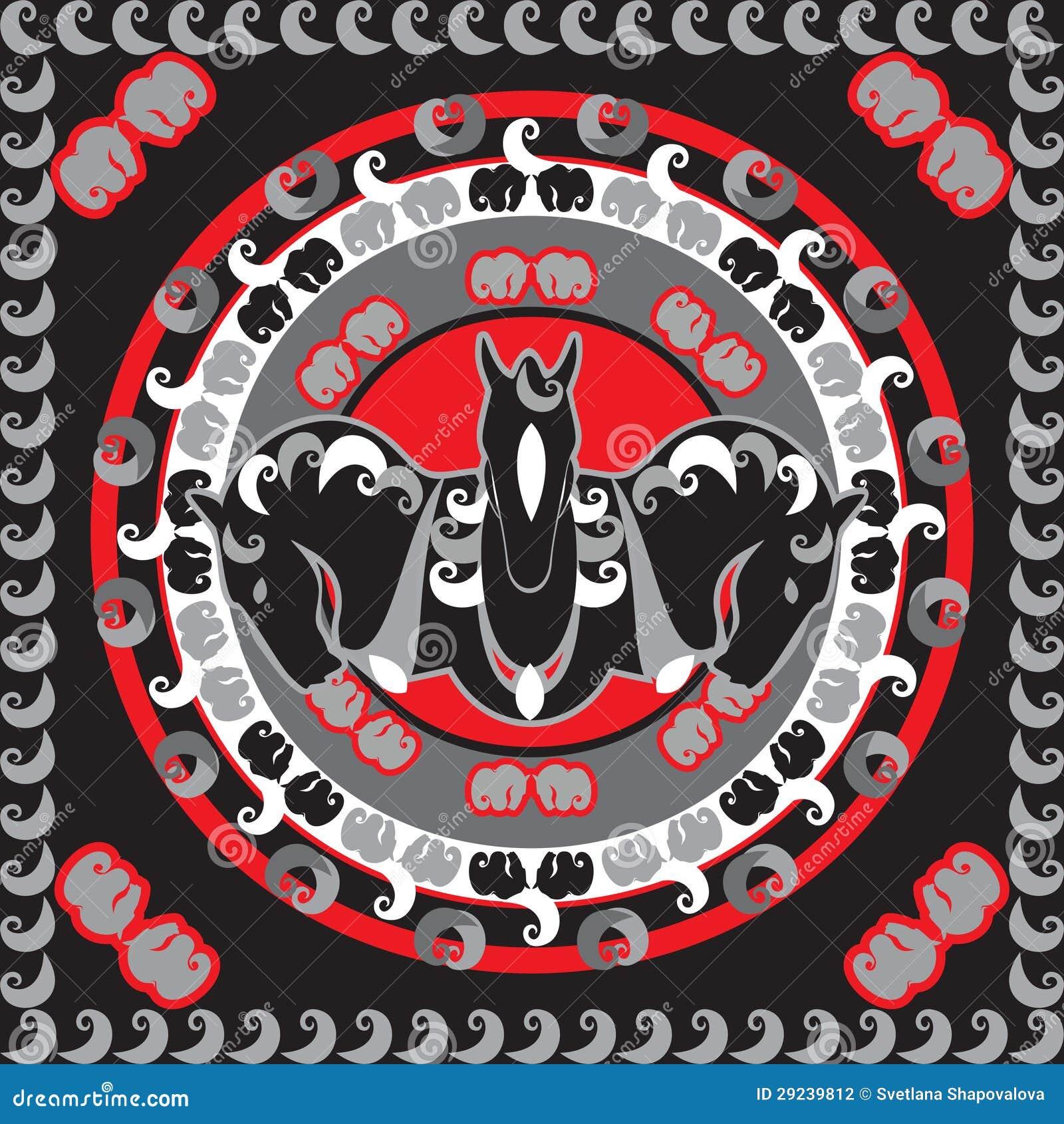 Download Símbolo dos cavalos ilustração do vetor. Ilustração de símbolo - 29239812