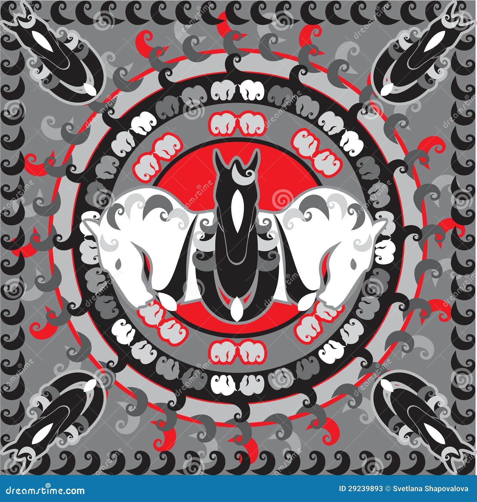 Download Símbolo dos cavalos ilustração do vetor. Ilustração de elemento - 29239893