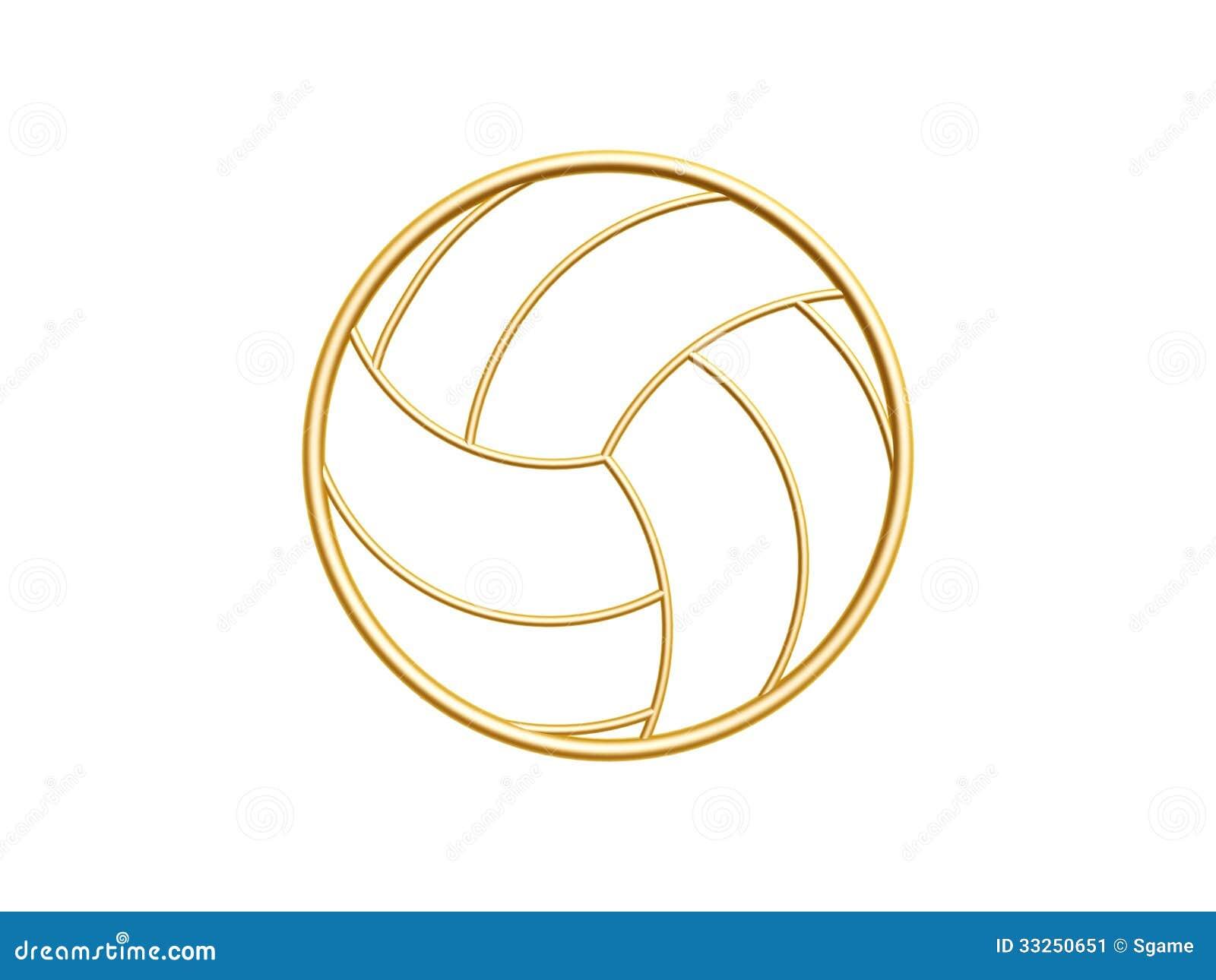 Smbolo dourado do voleibol ilustrao stock ilustrao de esfera smbolo dourado do voleibol ccuart Images
