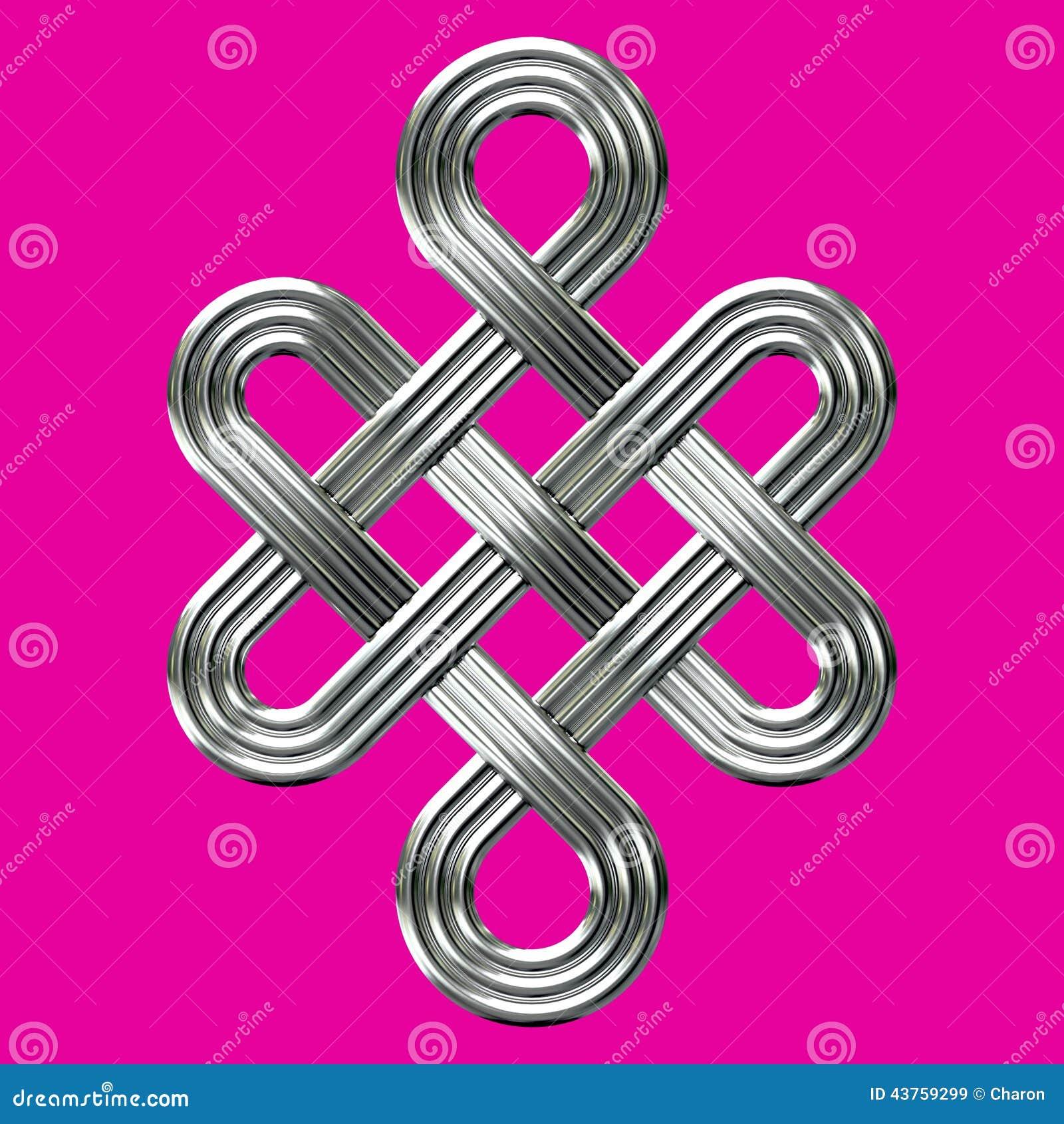 Símbolo eterno de plata del encanto del nudo