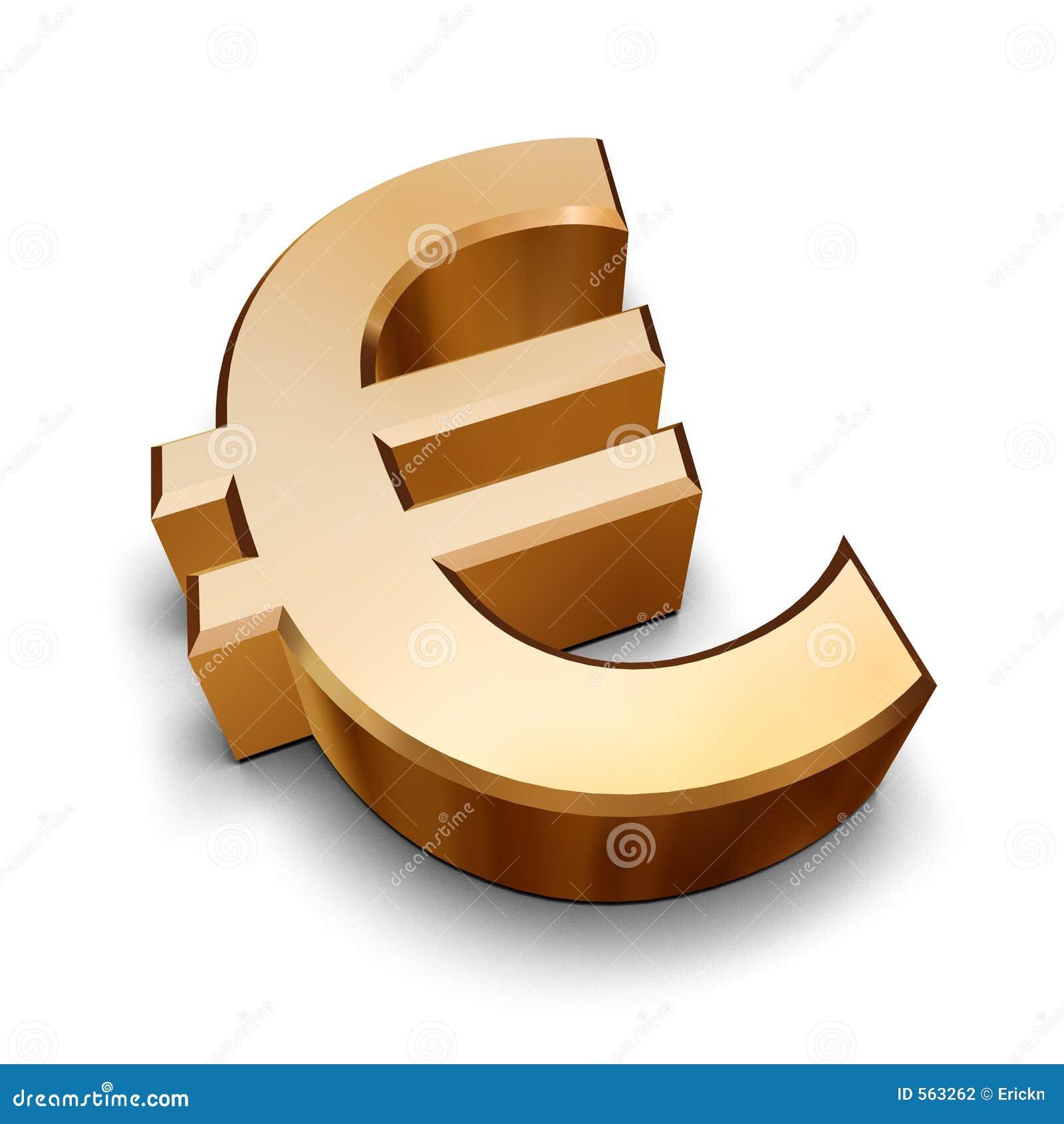 S mbolo euro de oro 3d fotograf a de archivo imagen 563262 for Precio logo