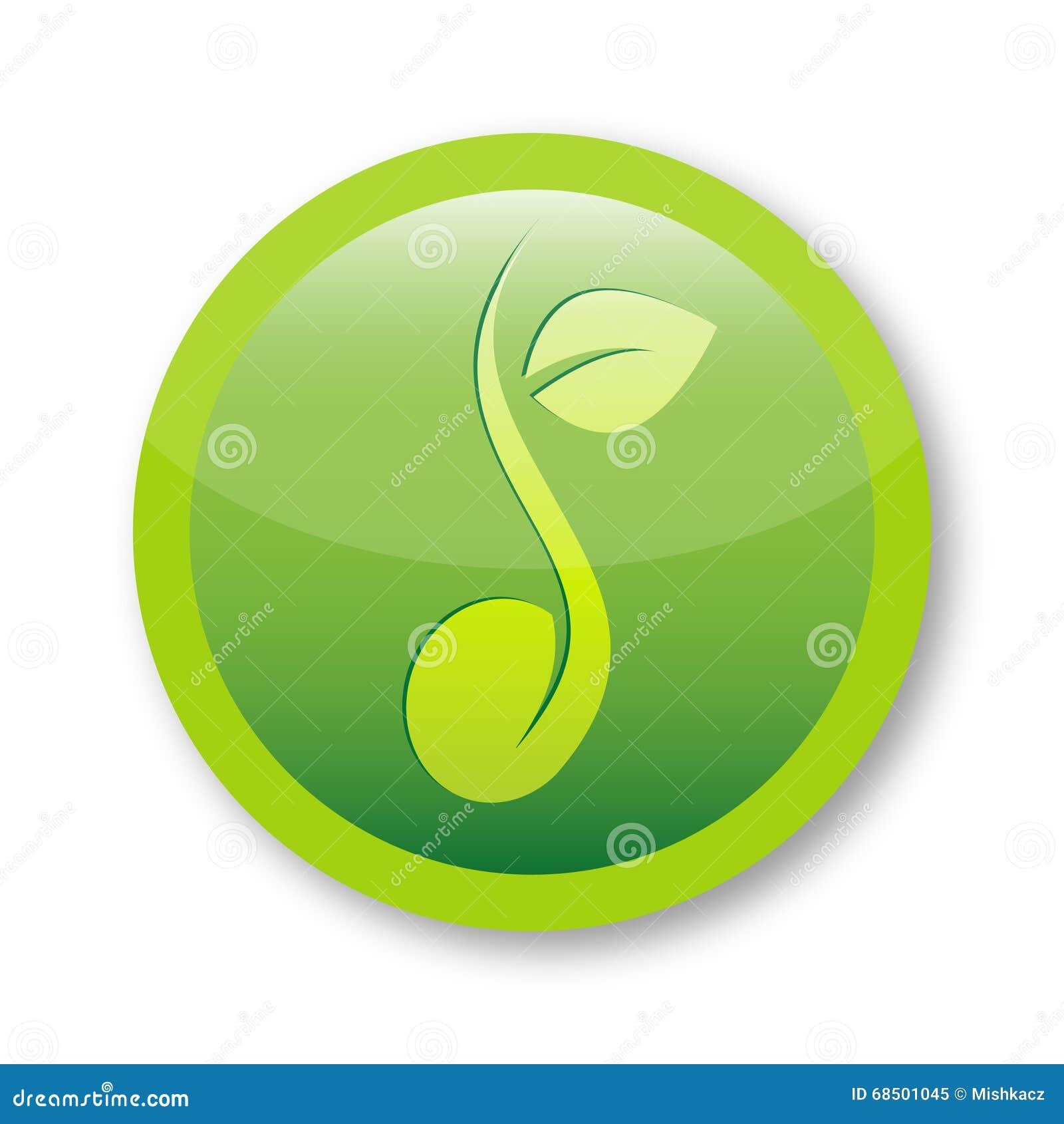 Símbolo fresco do logotipo da semente