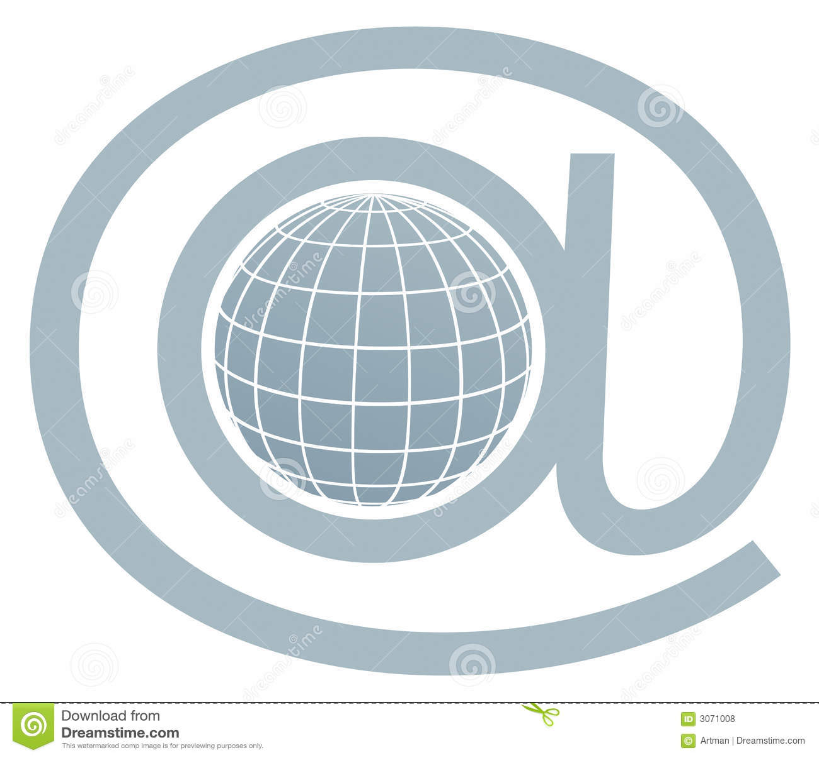 Símbolo/globo do email dentro em