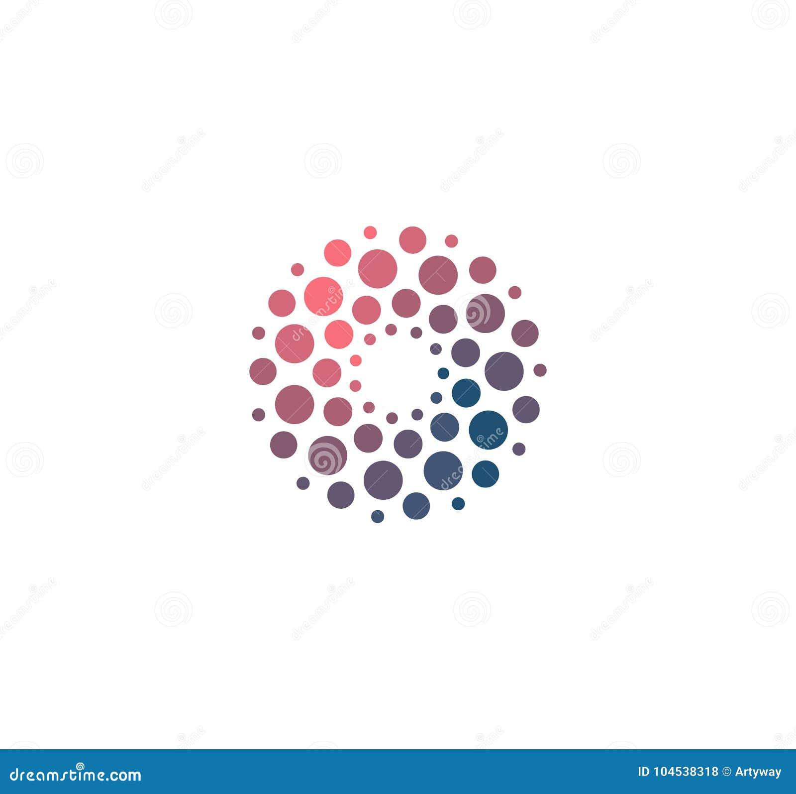 Símbolo grande de la base del dat del análisis avanzado Desarrollo de la muestra de la inteligencia artificial Logotipo de alta t
