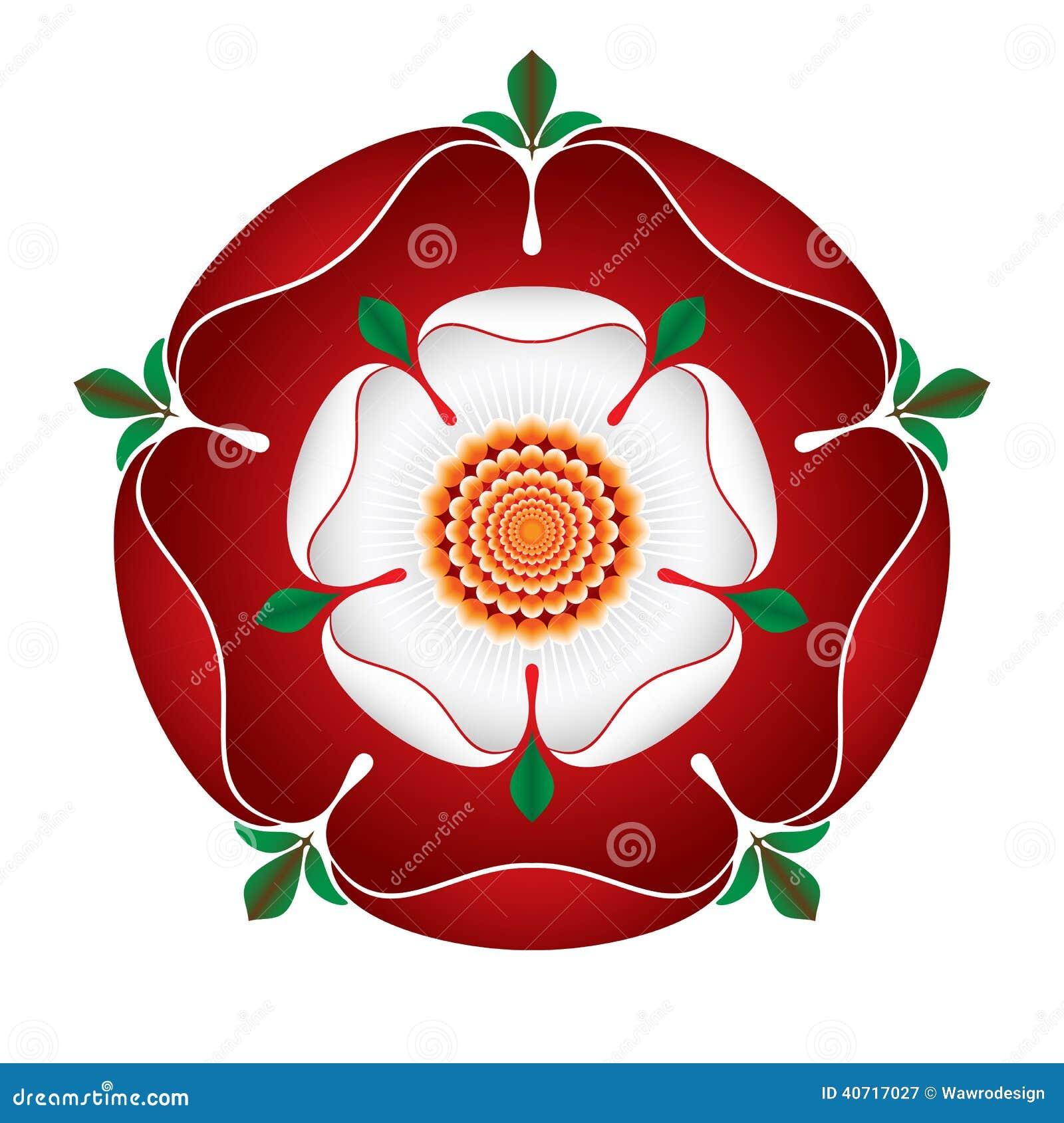 Símbolo Inglês Do â Da Ilustração Do â De Tudor Dynasty Rose