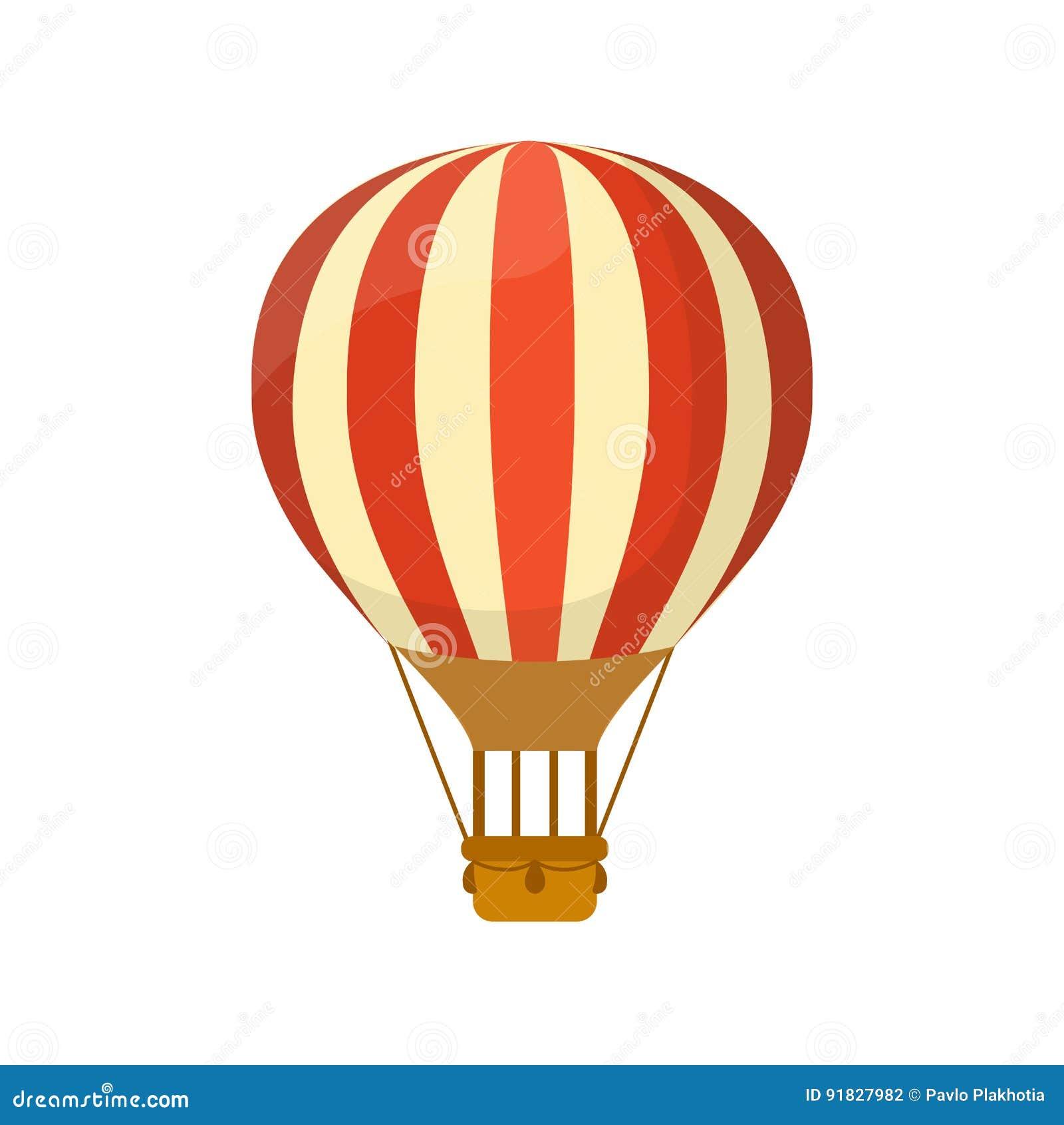 Símbolo liso do balão de ar quente para o projeto da ilustração ou do logotipo