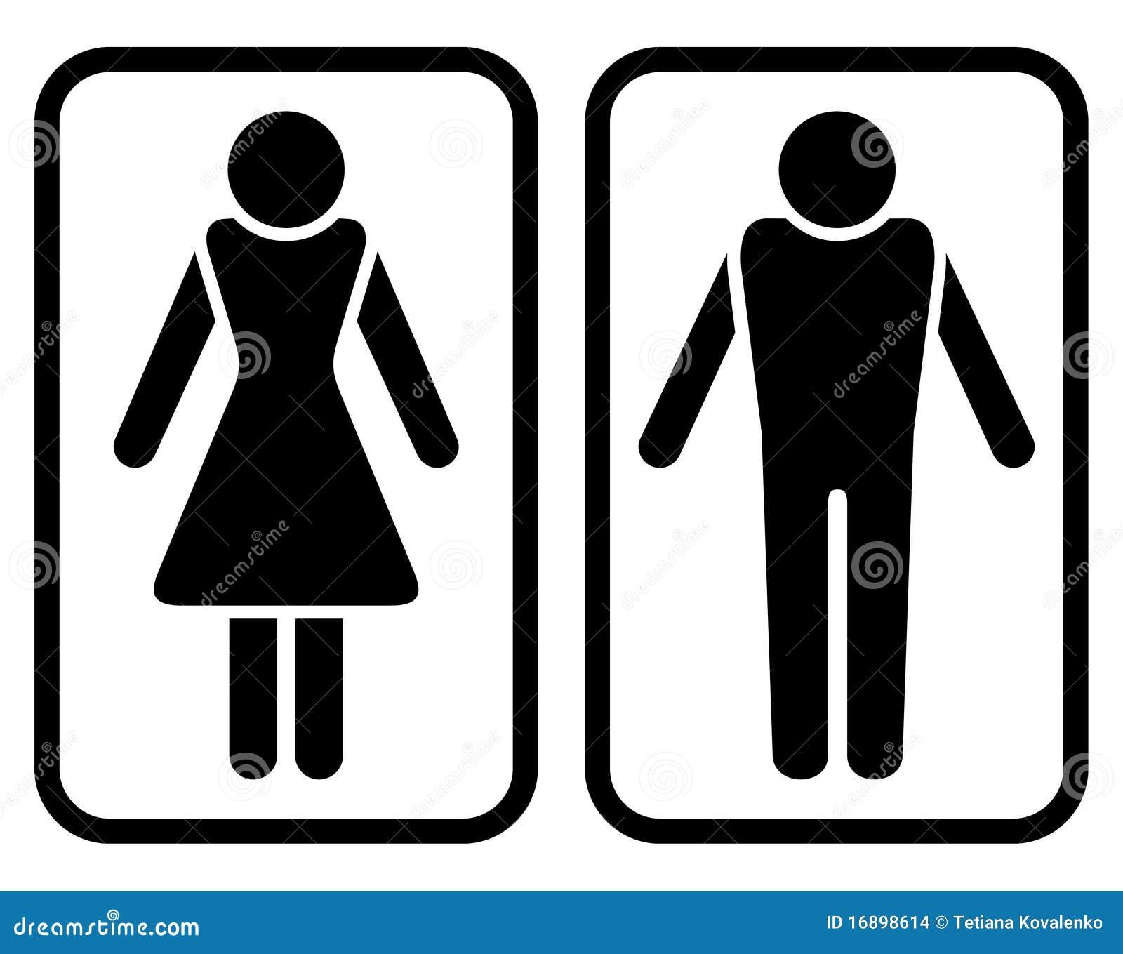 Símbolo masculino y femenino -> Símbolo Banheiro Feminino
