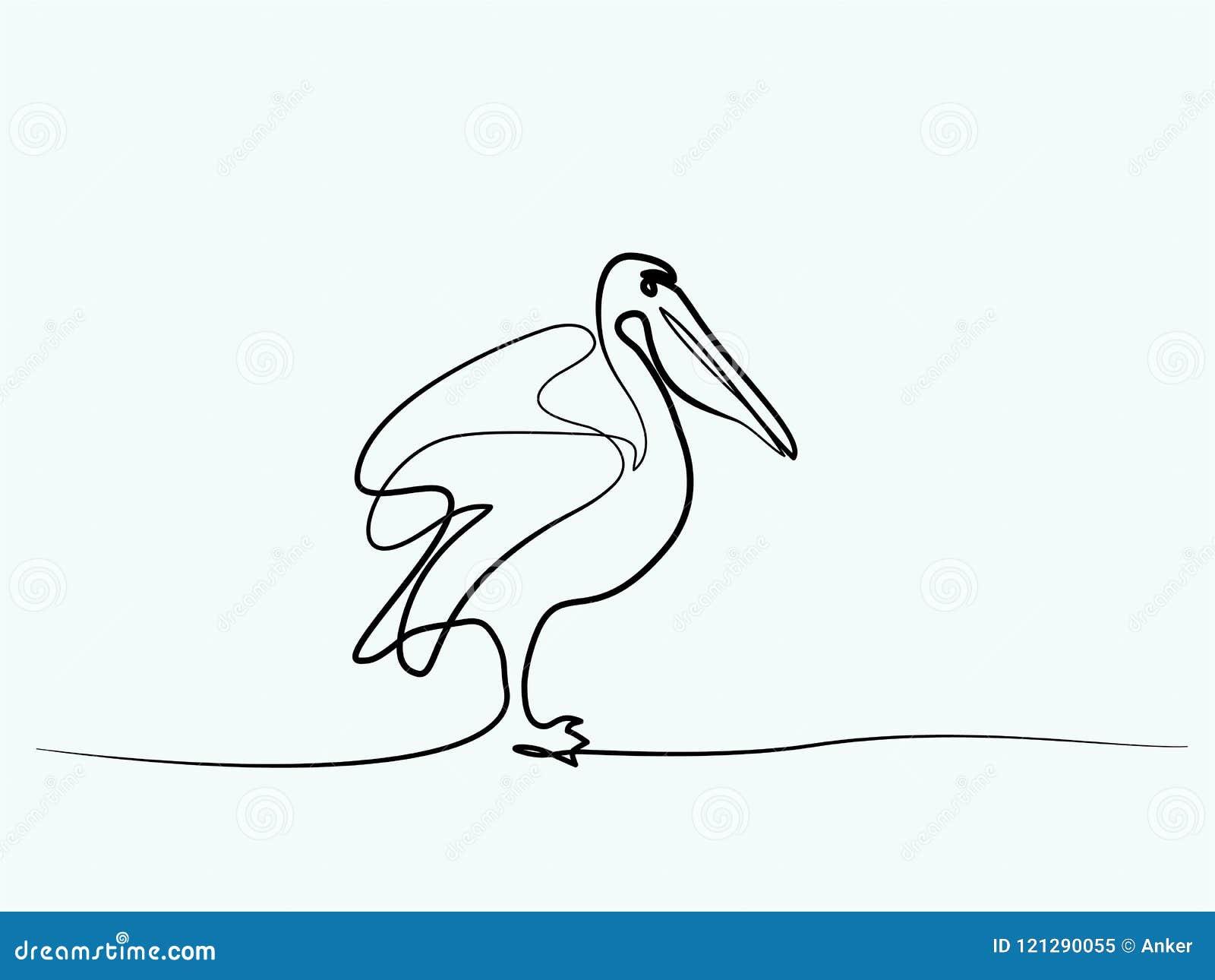 Símbolo minimalista do pelicano