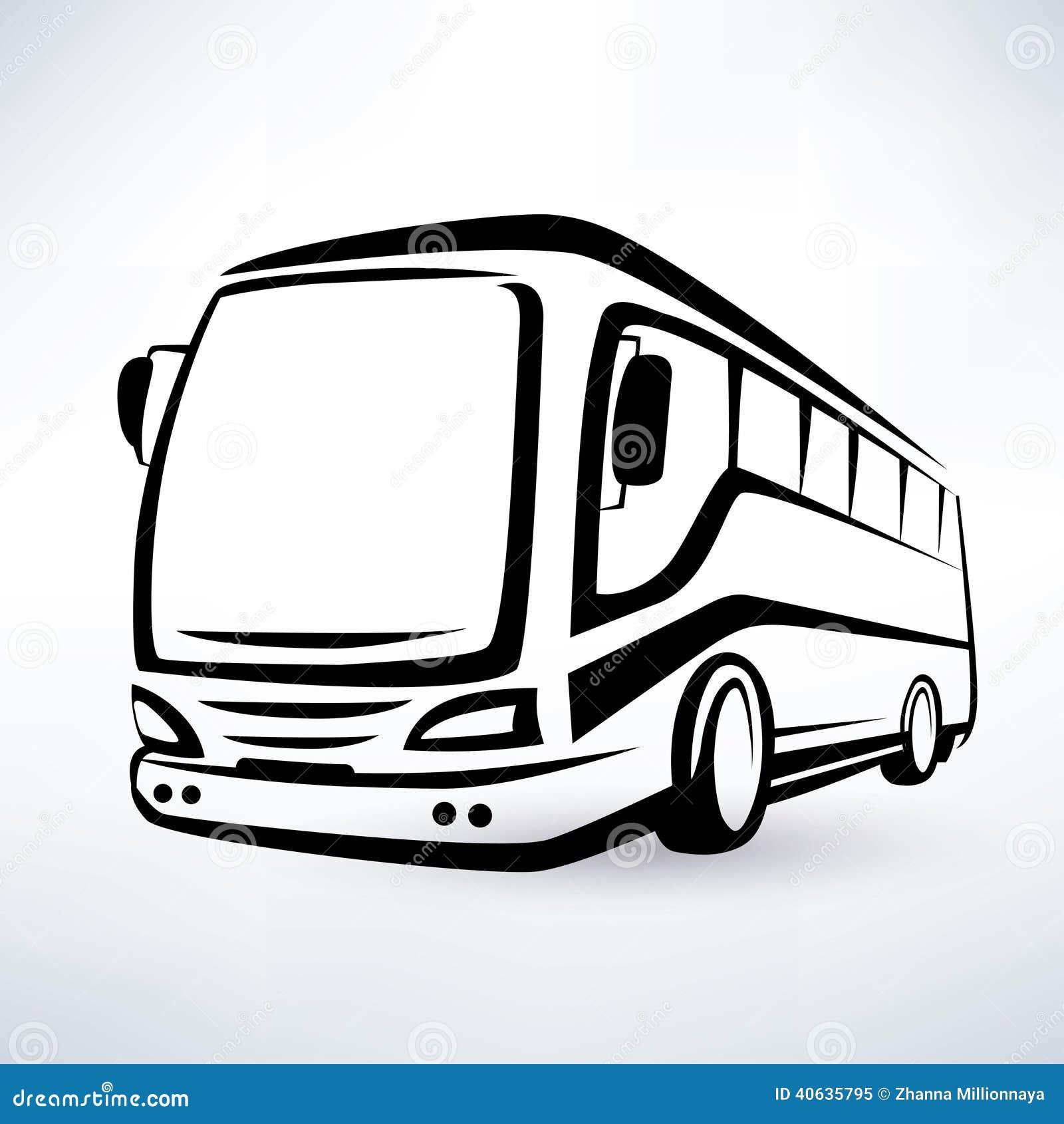 Símbolo moderno del autobús