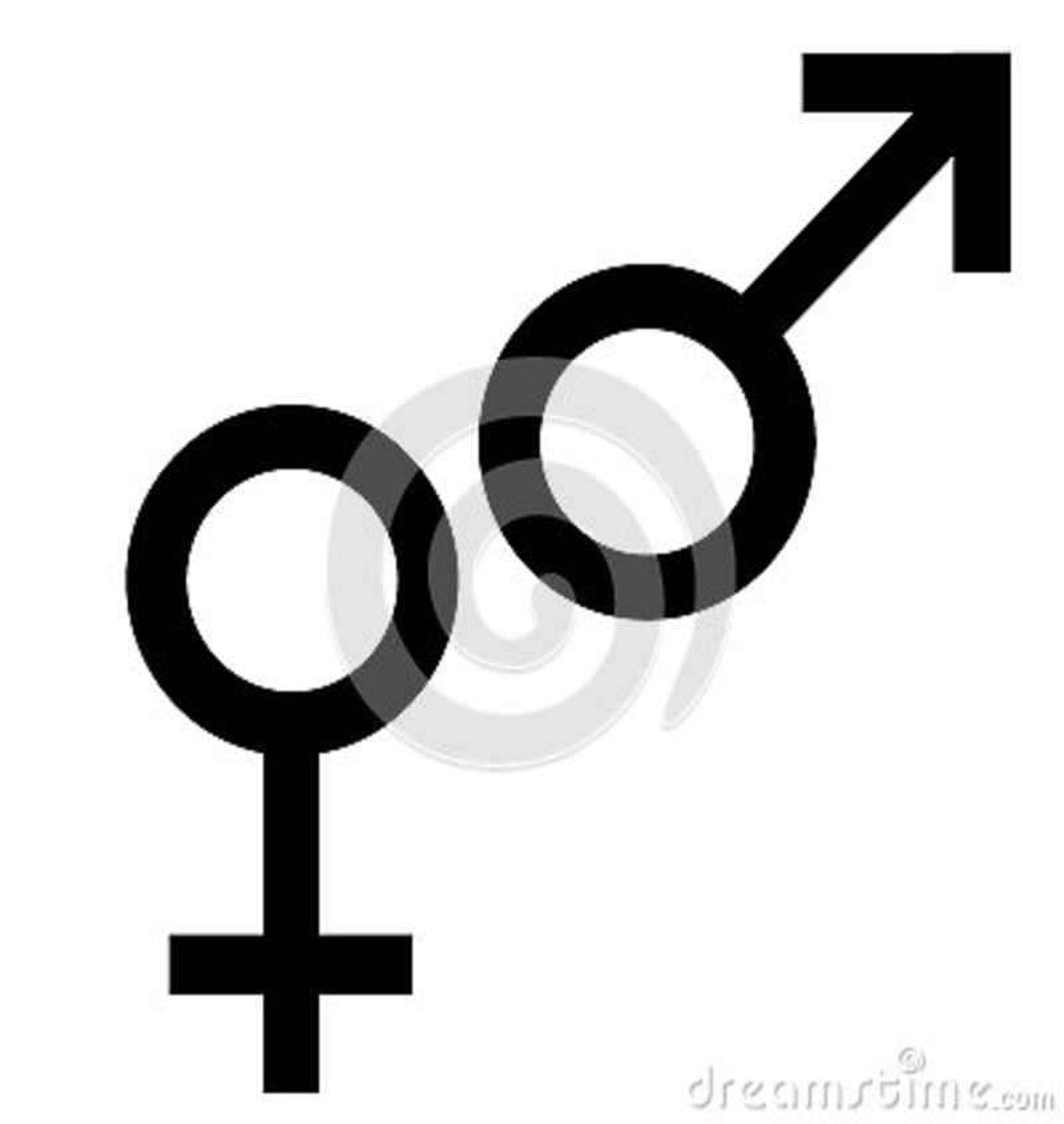 Símbolo Negro Del Sexo Símbolo Del Hombre Y De La Mujer Del Género