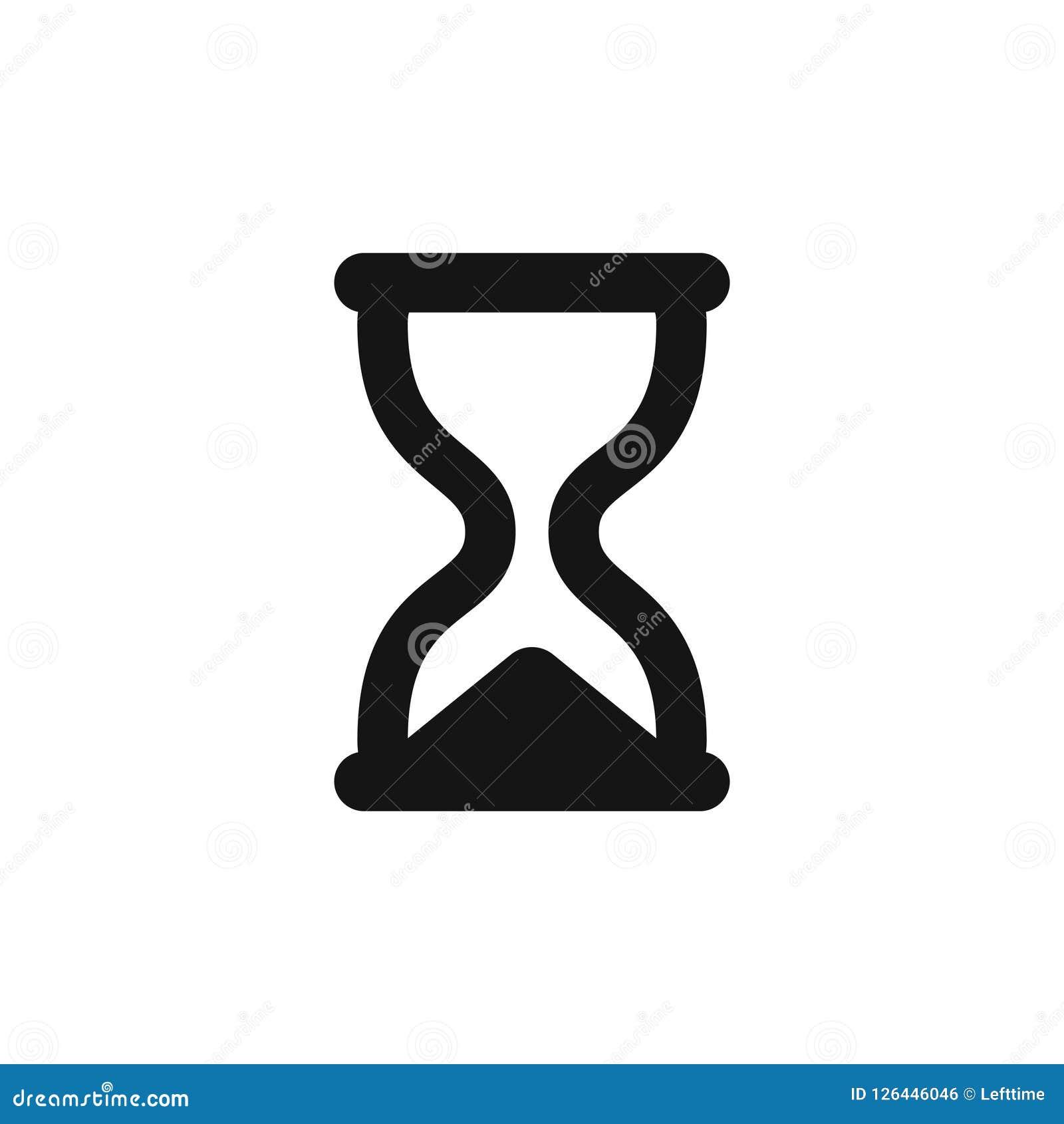 Símbolo Negro Simple De Los Sandglass Del Icono Del Reloj De Arena