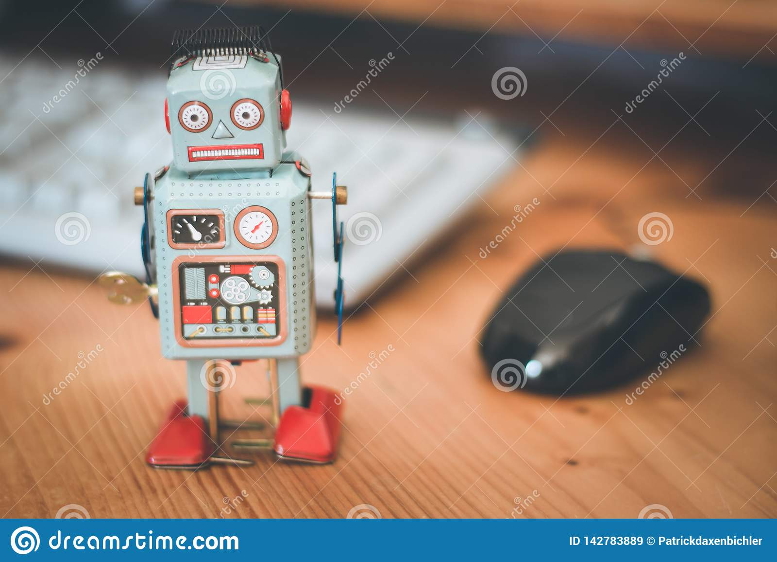 Símbolo para um bot do bate-papo ou bot social e algoritmos, teclado