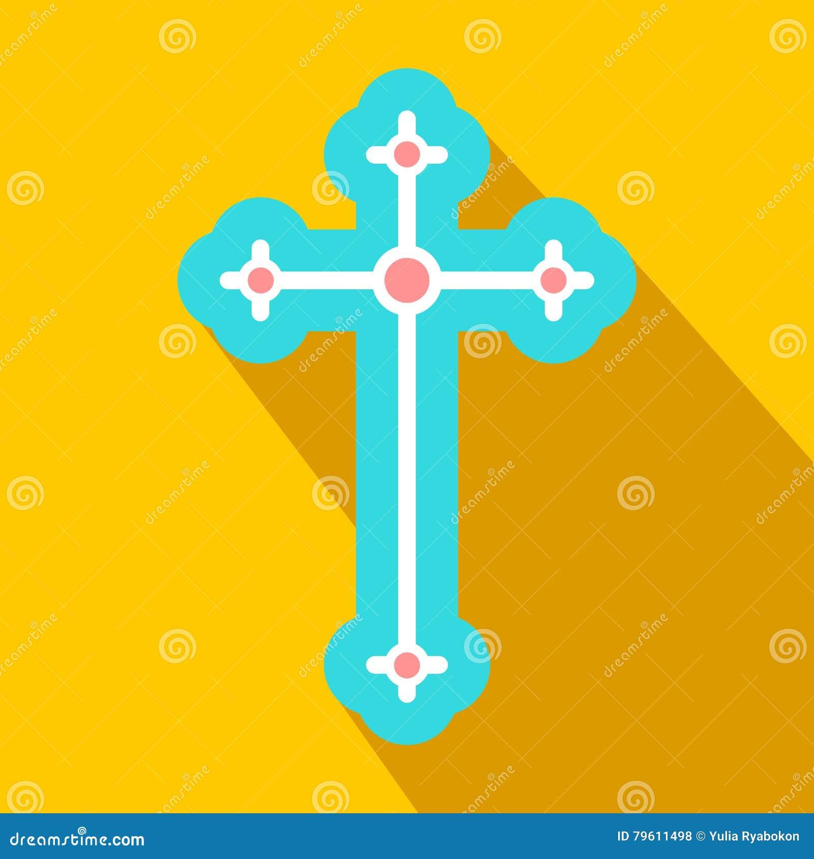 Símbolo religioso do ícone liso do crucifixo