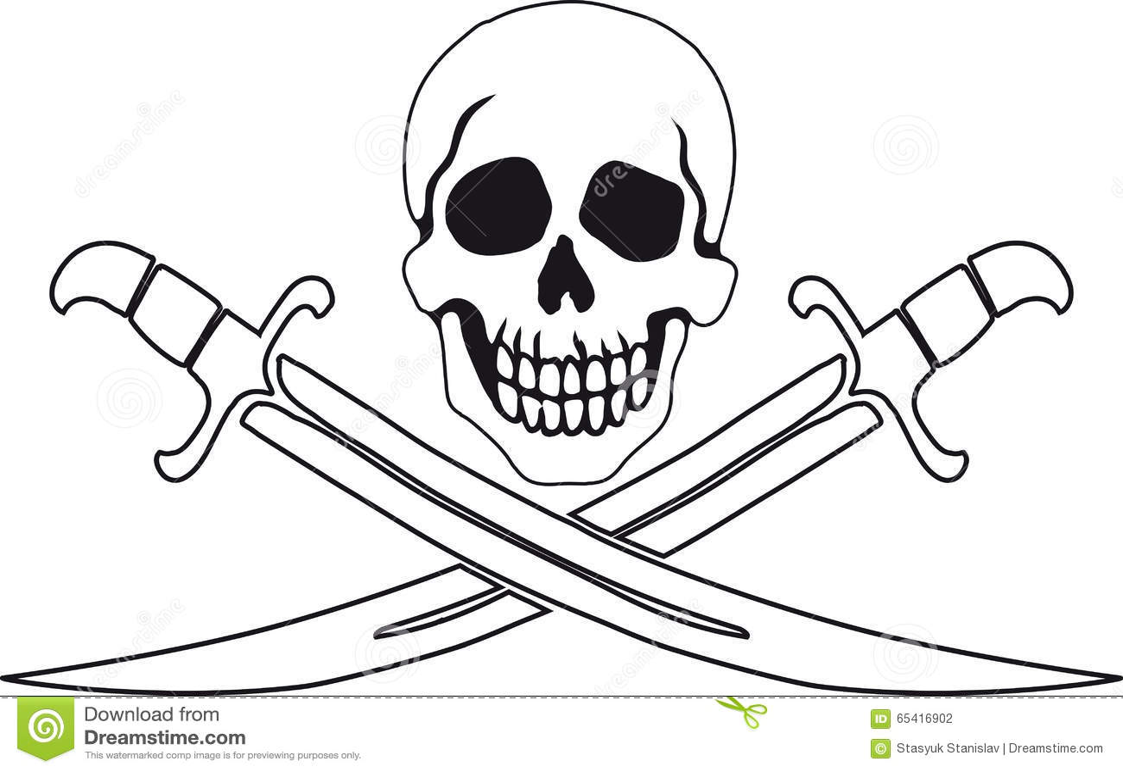 Símbolo Roger alegre do pirata
