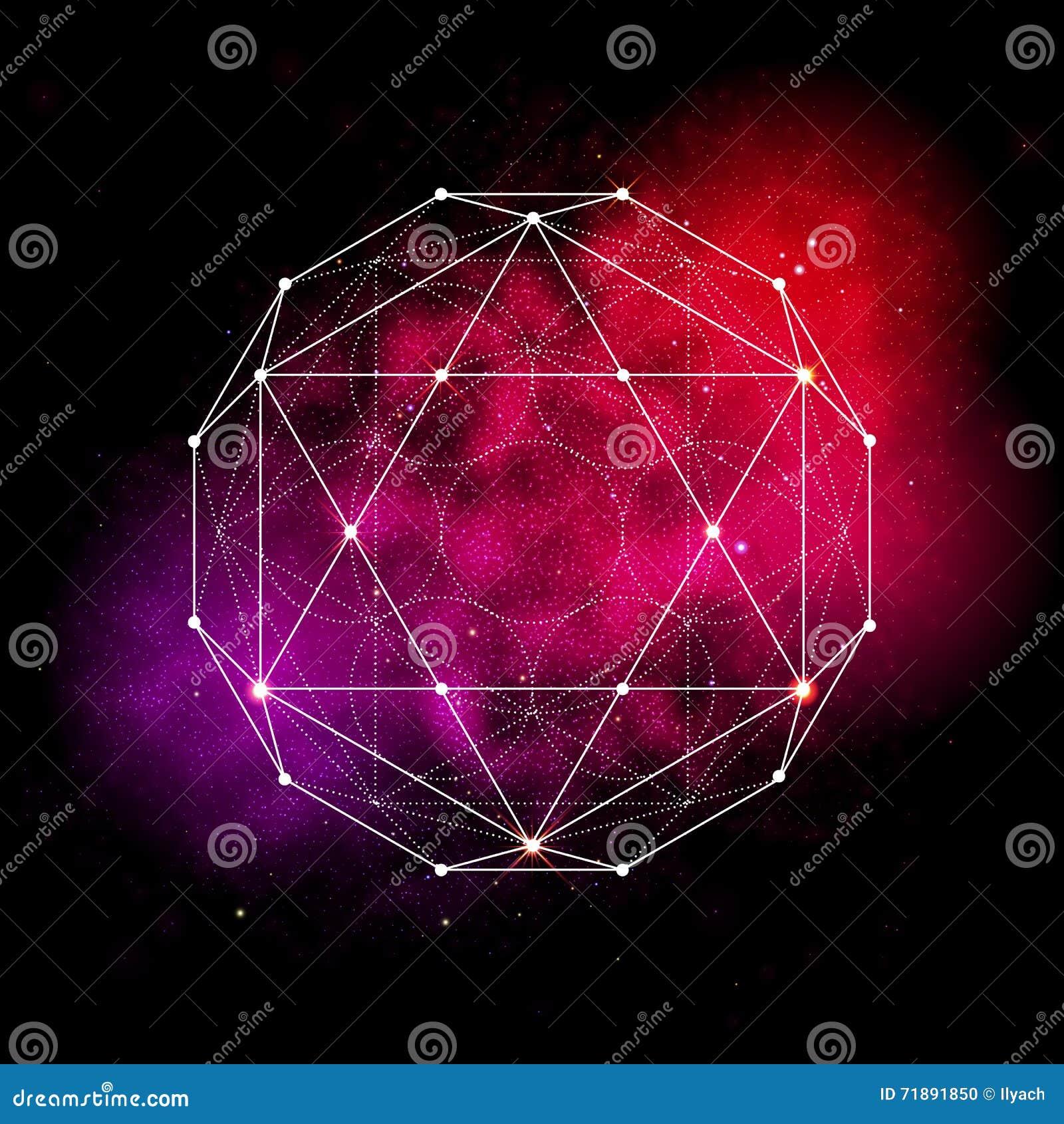 Símbolo sagrado da geometria Flor do sinal da vida