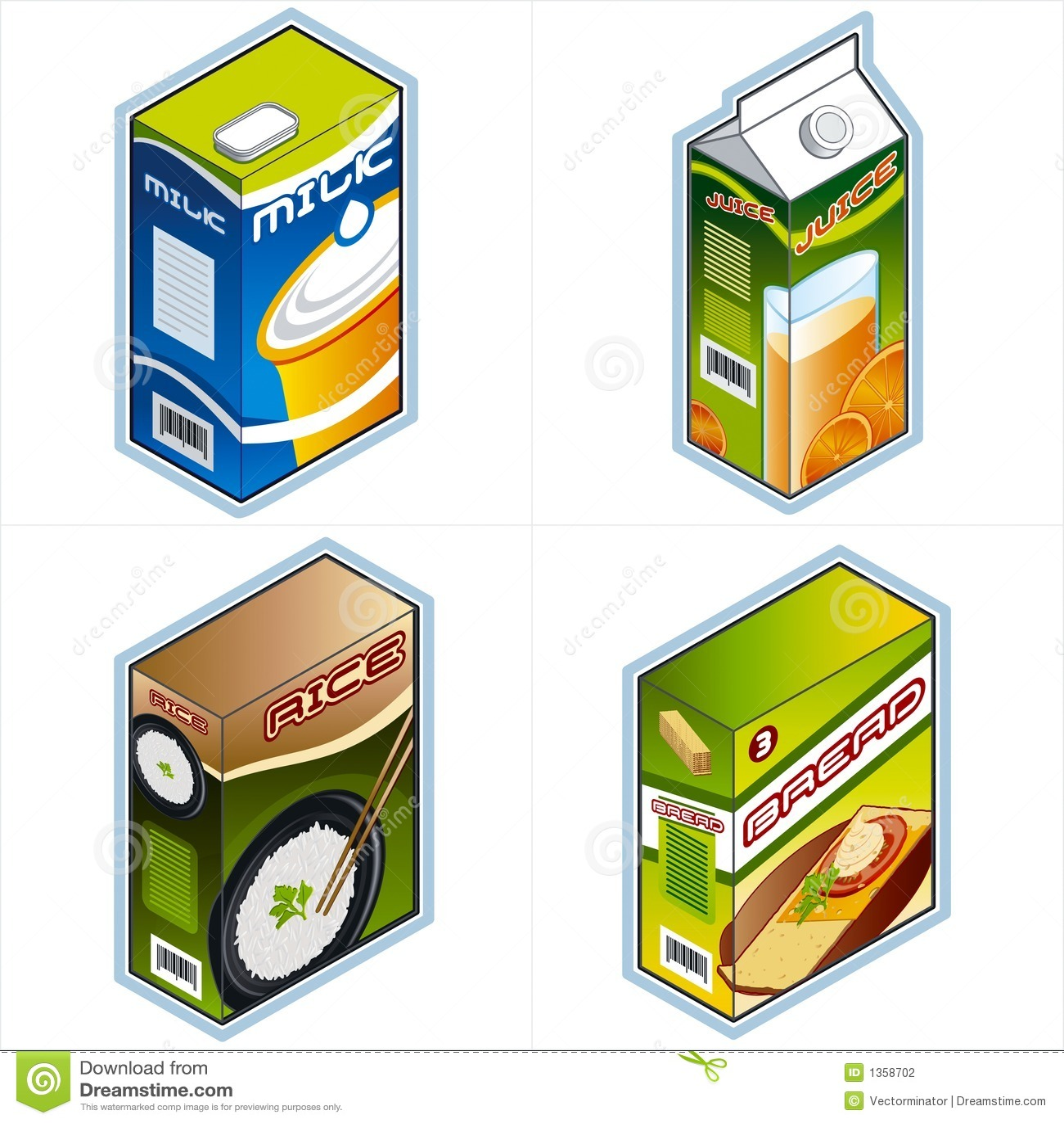 Símbolos 34a. Iconos de la tienda de comestibles