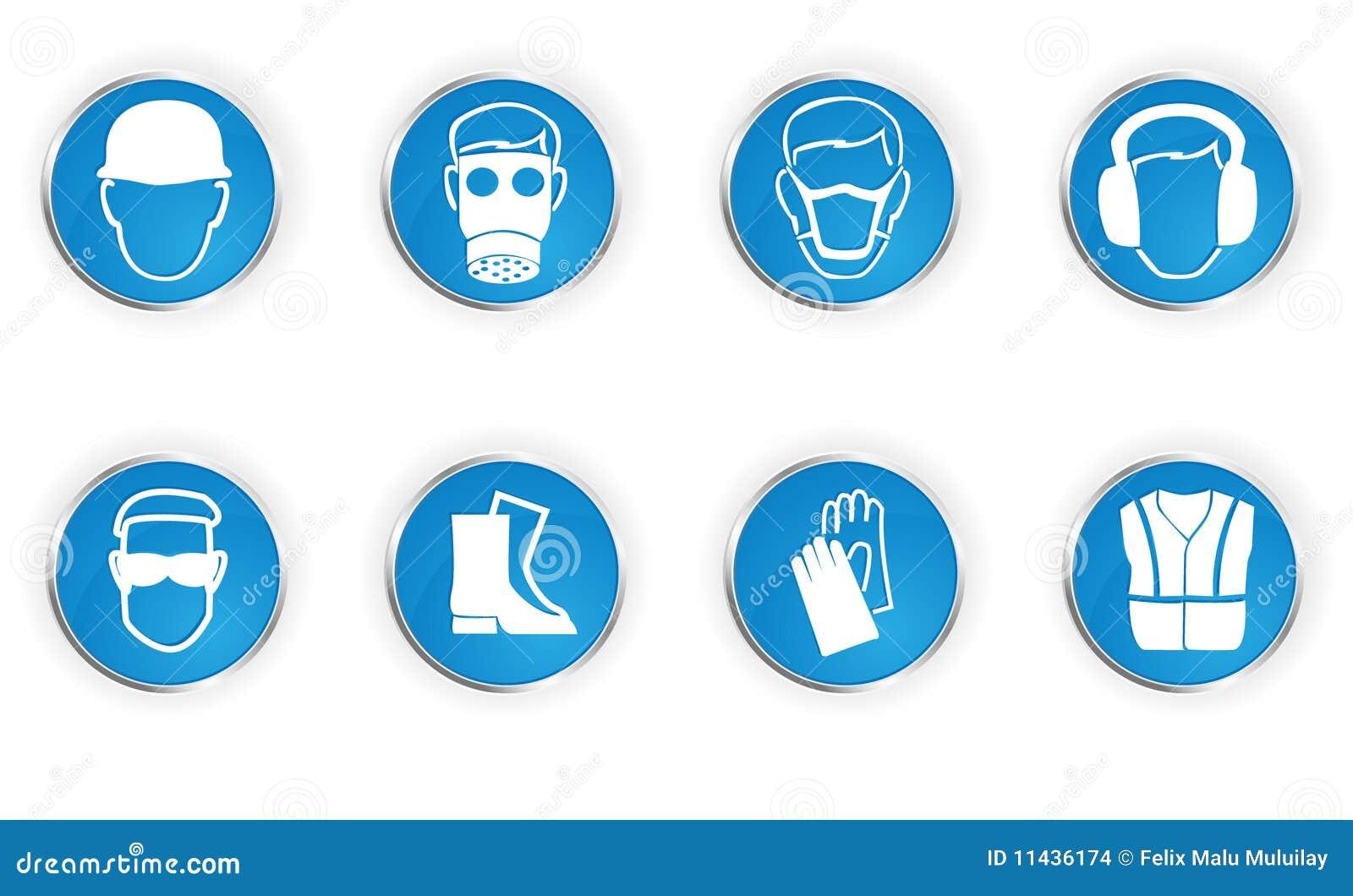 Simbolos de segurança no laboratorio