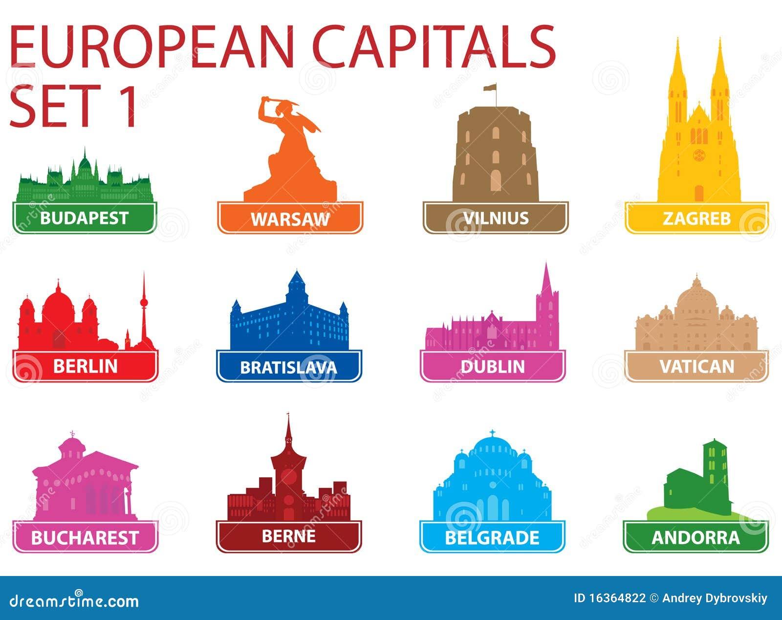 Símbolos de capital europeos