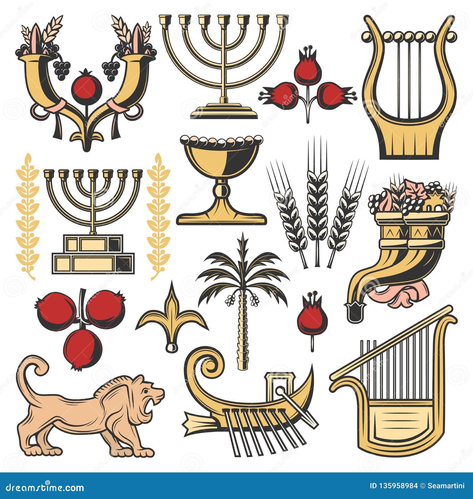Simbolos De Israel Da Religiao Do Judaism Cultura Judaica Ilustracao Do Vetor Ilustracao De Religiao Cultura 135958984