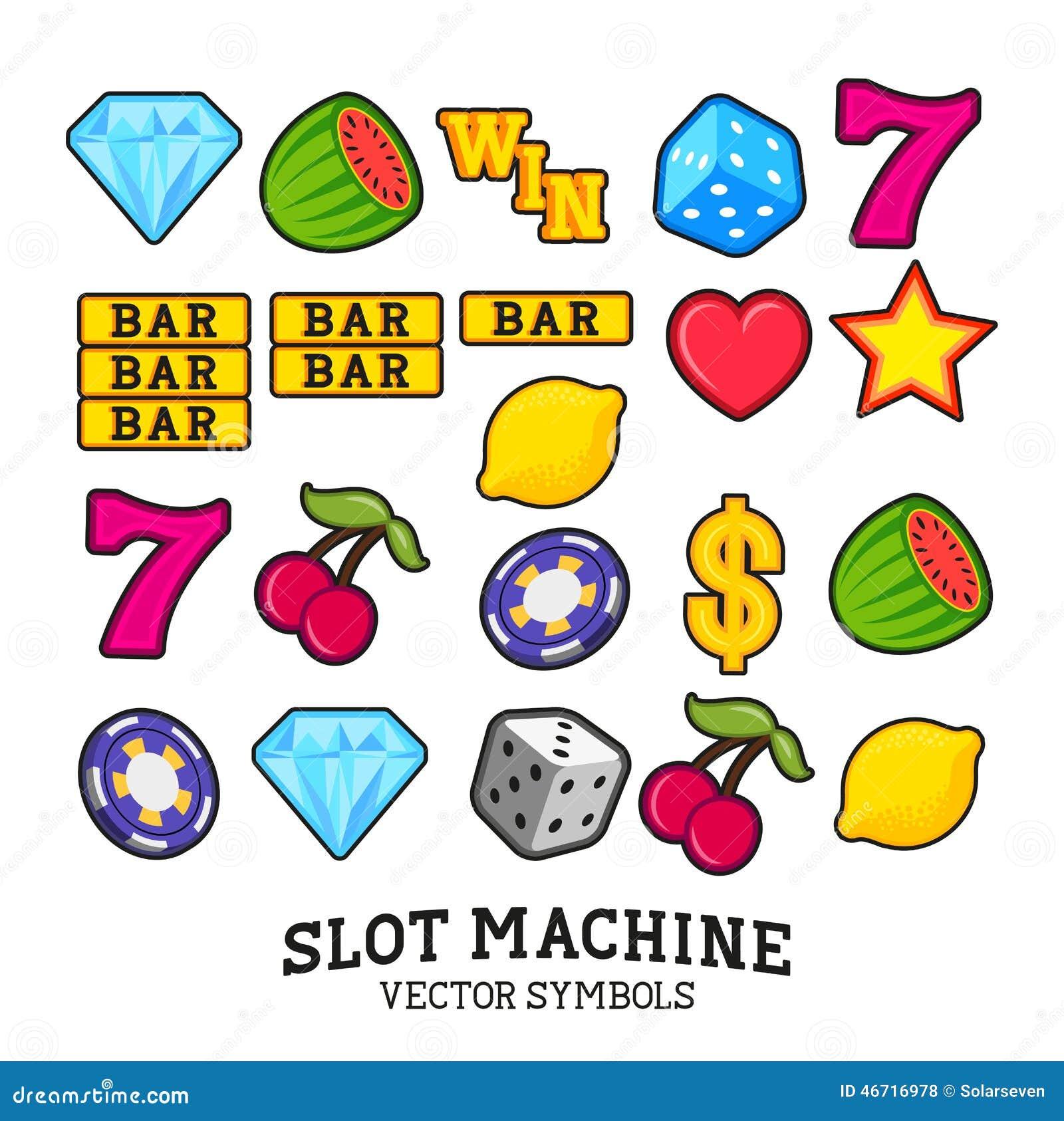 Símbolos de la máquina tragaperras