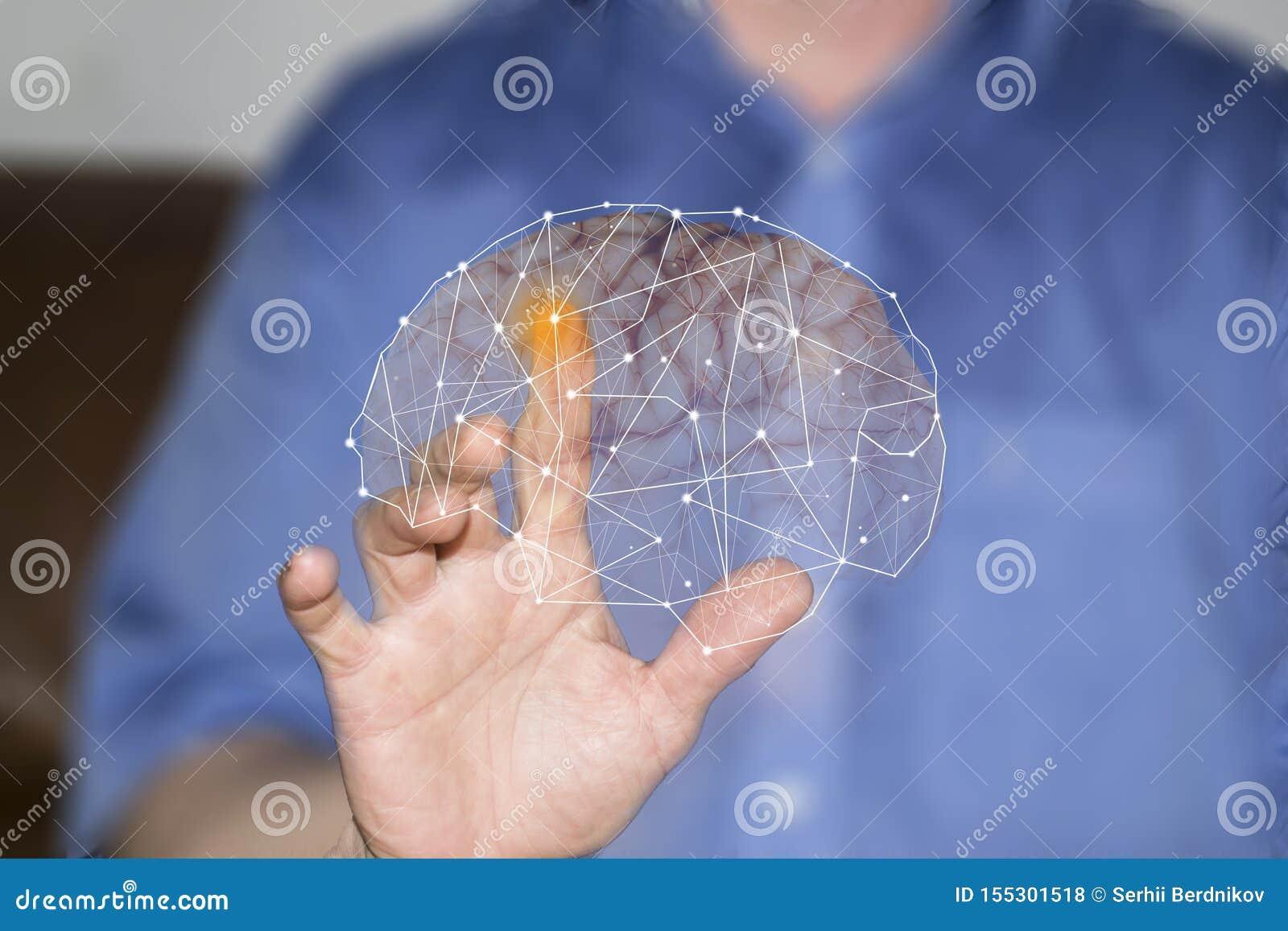 Símbolos de la mano y de los órganos humanos en las pantallas virtuales