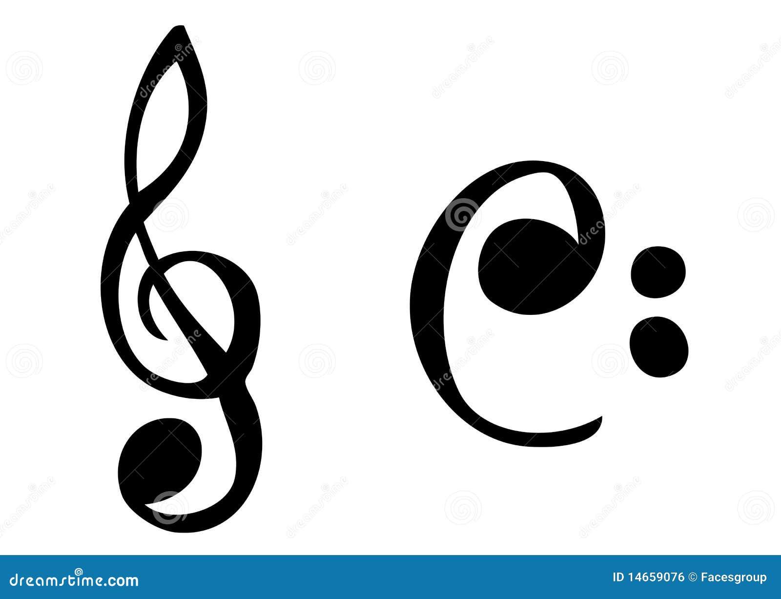 Simbolos De Musica De Cartoonish Ilustracao Do Vetor Ilustracao