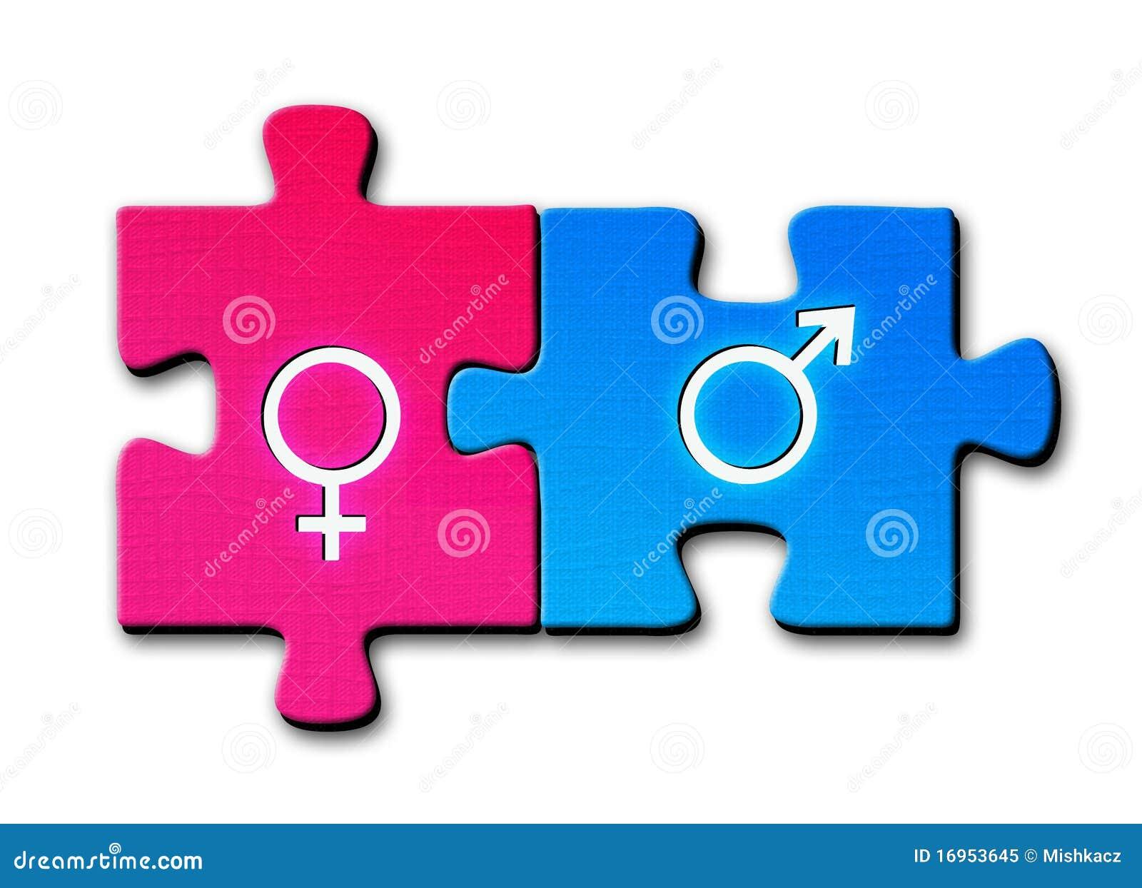 Símbolos de sexo masculino y femenino -