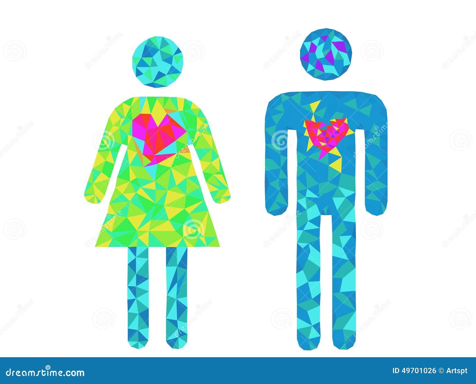 Símbolos Del Hombre Y De La Mujer Ilustración Del Vector