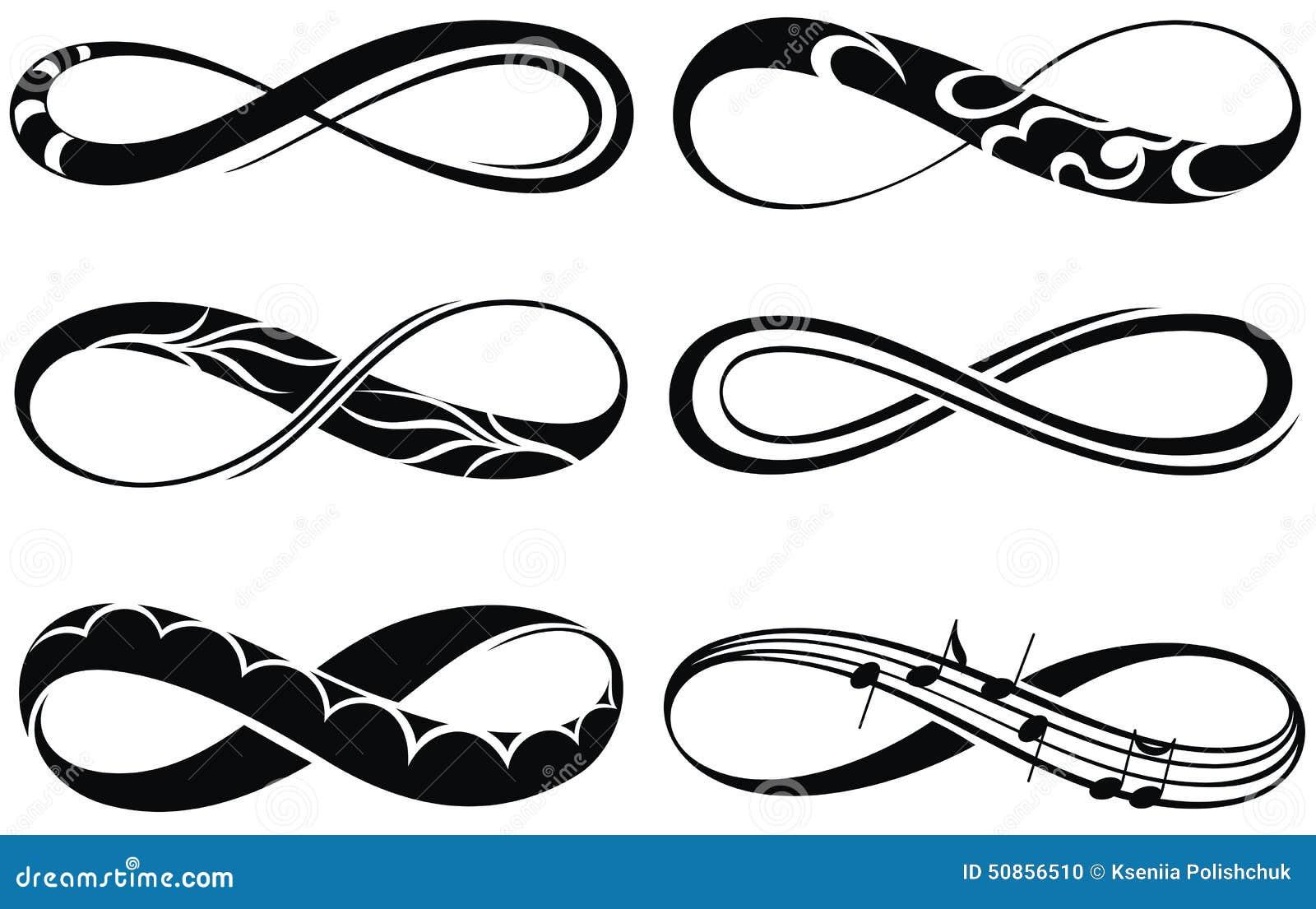 s237mbolos del infinito ilustraci243n del vector ilustraci243n
