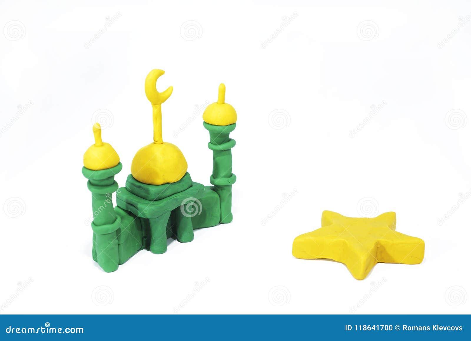 Símbolos del Islam Objetos hechos de la arcilla del juego
