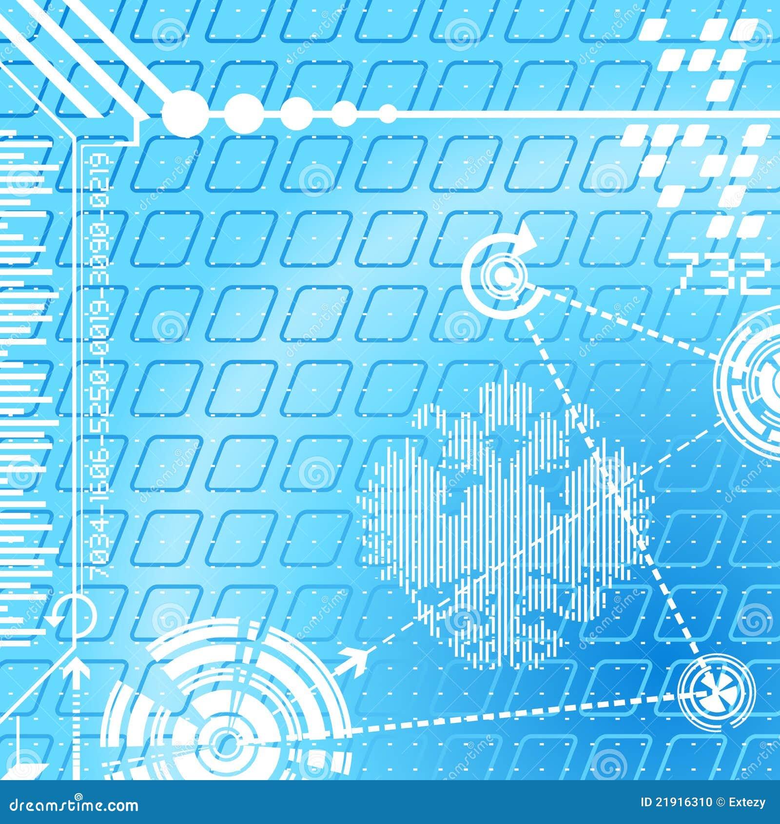 Símbolos digitales del fondo abstracto