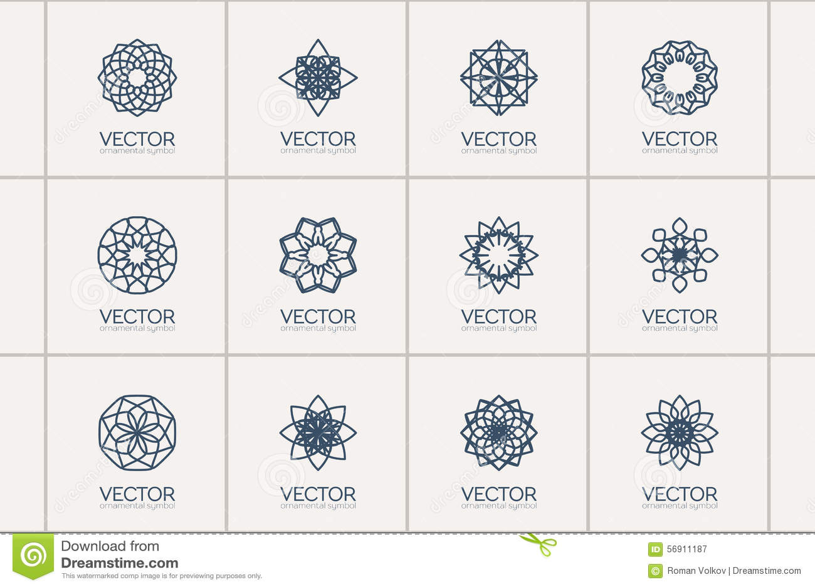 Símbolos Geométricos Del Vector Ilustración Del Vector Ilustración